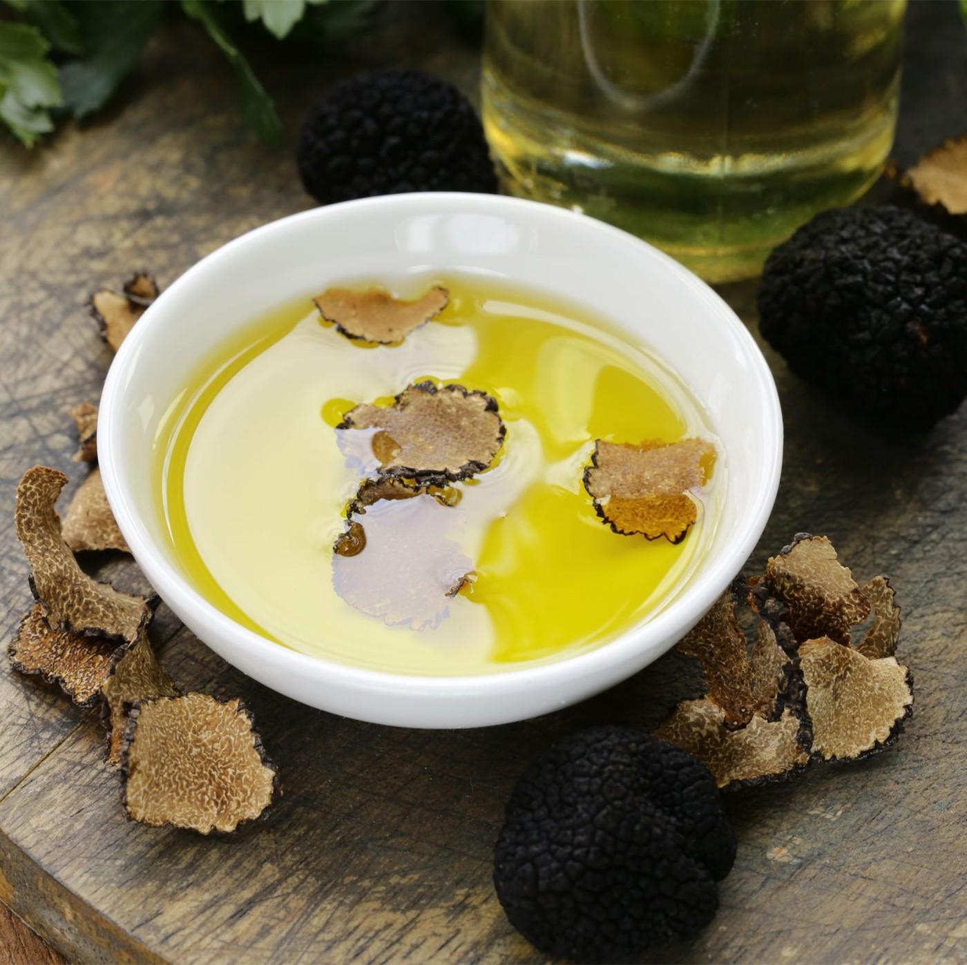 receta de Aceite De Oliva Con Trufa Negra