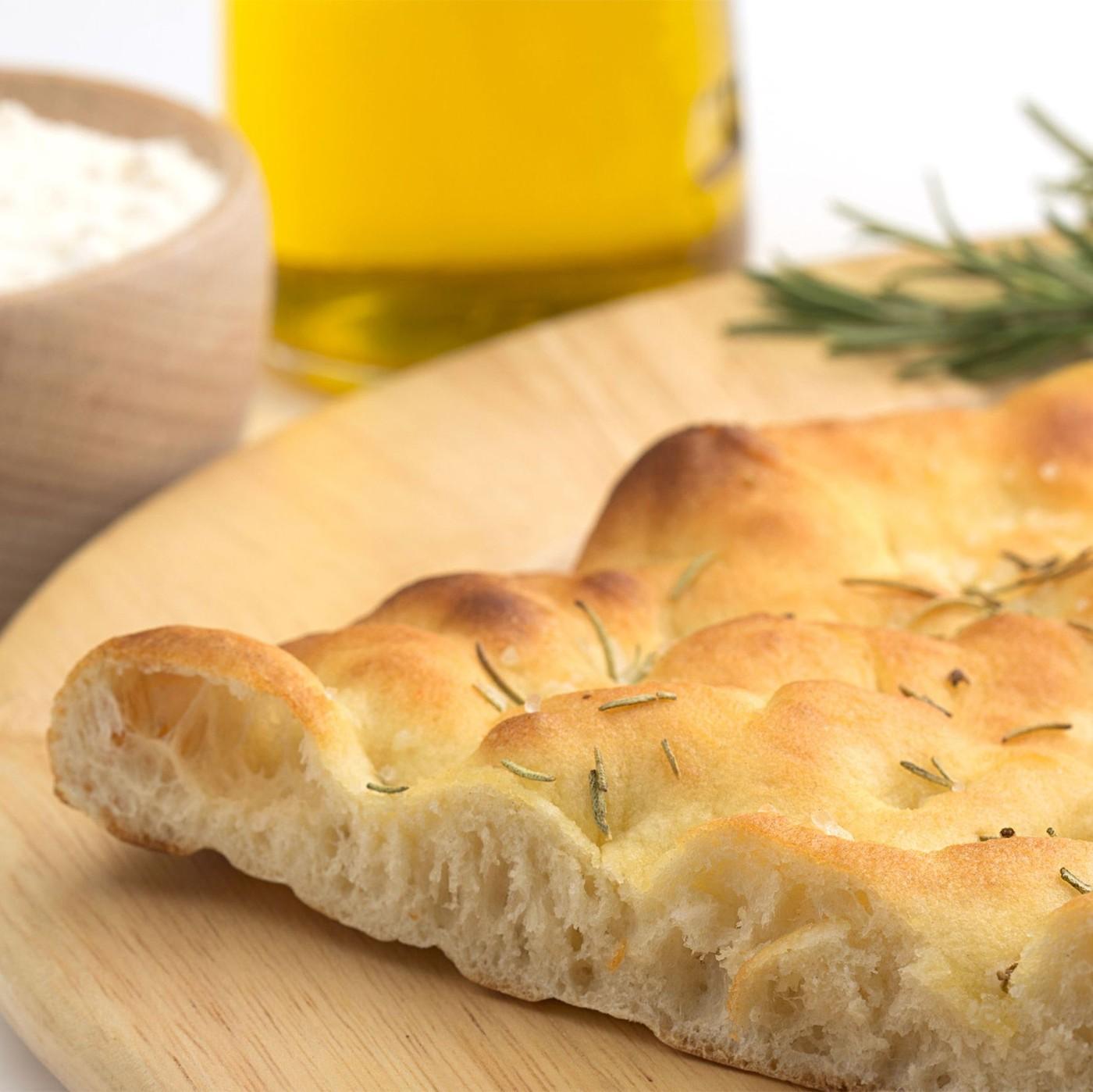 receta de Focaccia Genovesa Con Aceite De Oliva