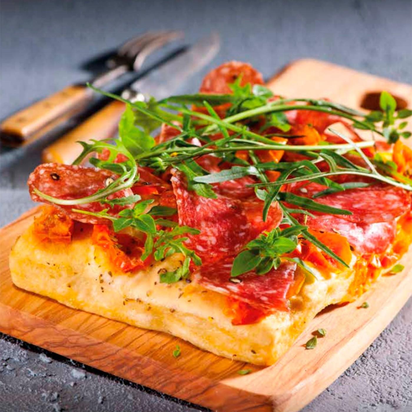 receta de Focaccia Con Tomate Cherry Fresco