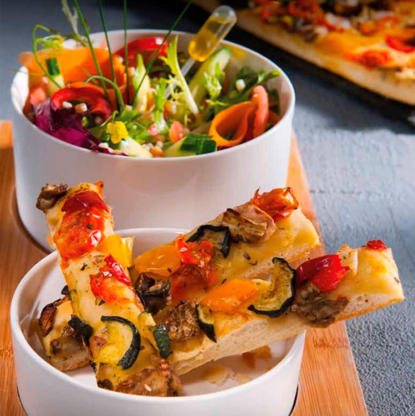 receta de Focaccia Vegetariana