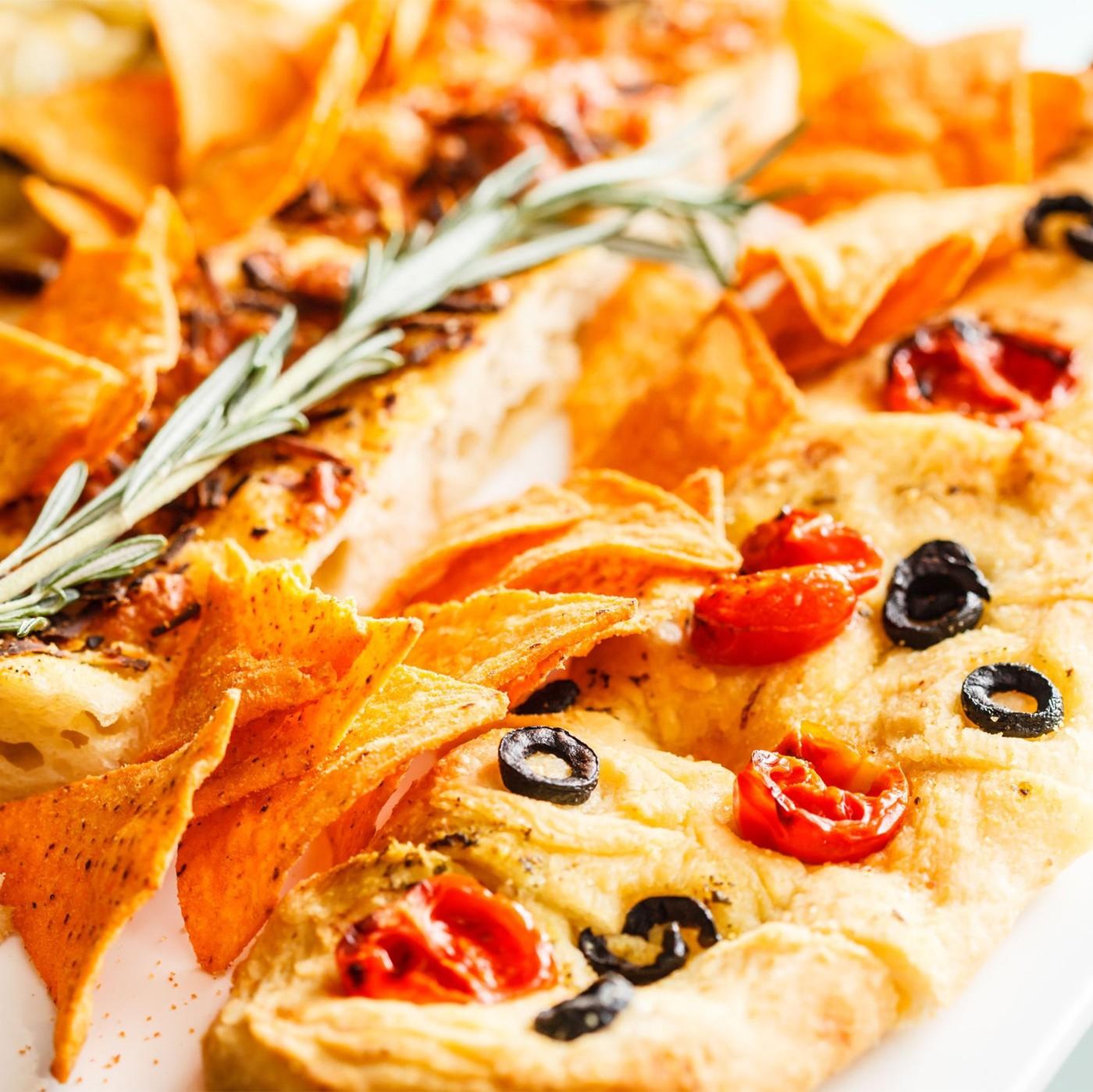 receta de Focaccia Con Aceitunas Taggiasche Y Tomate Cherry