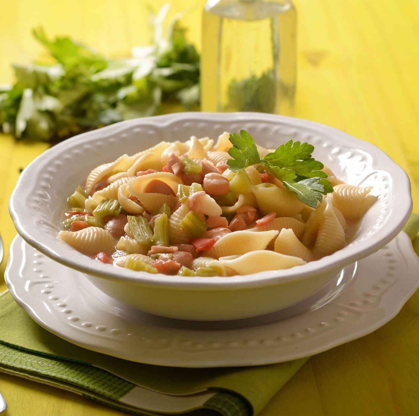 receta de Conchiglioni Rigati N.126