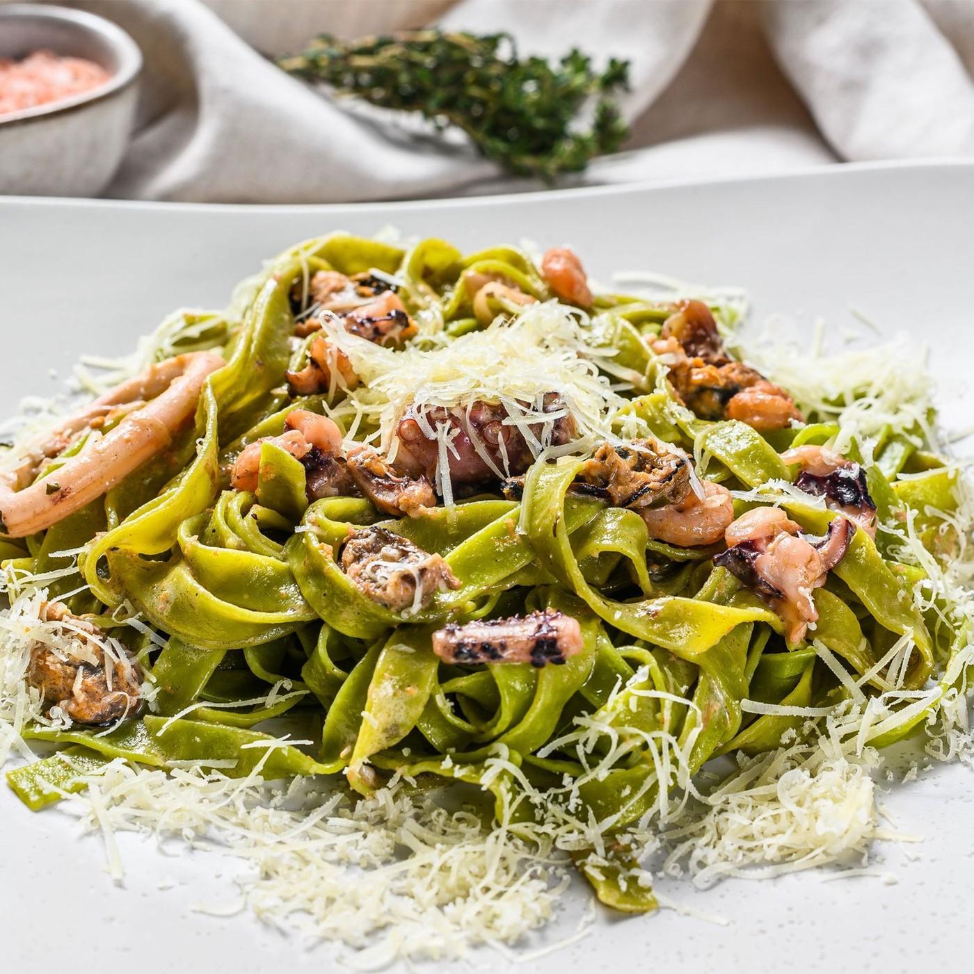 receta de Tagliatelle All´uovo Con Spinaci N.107