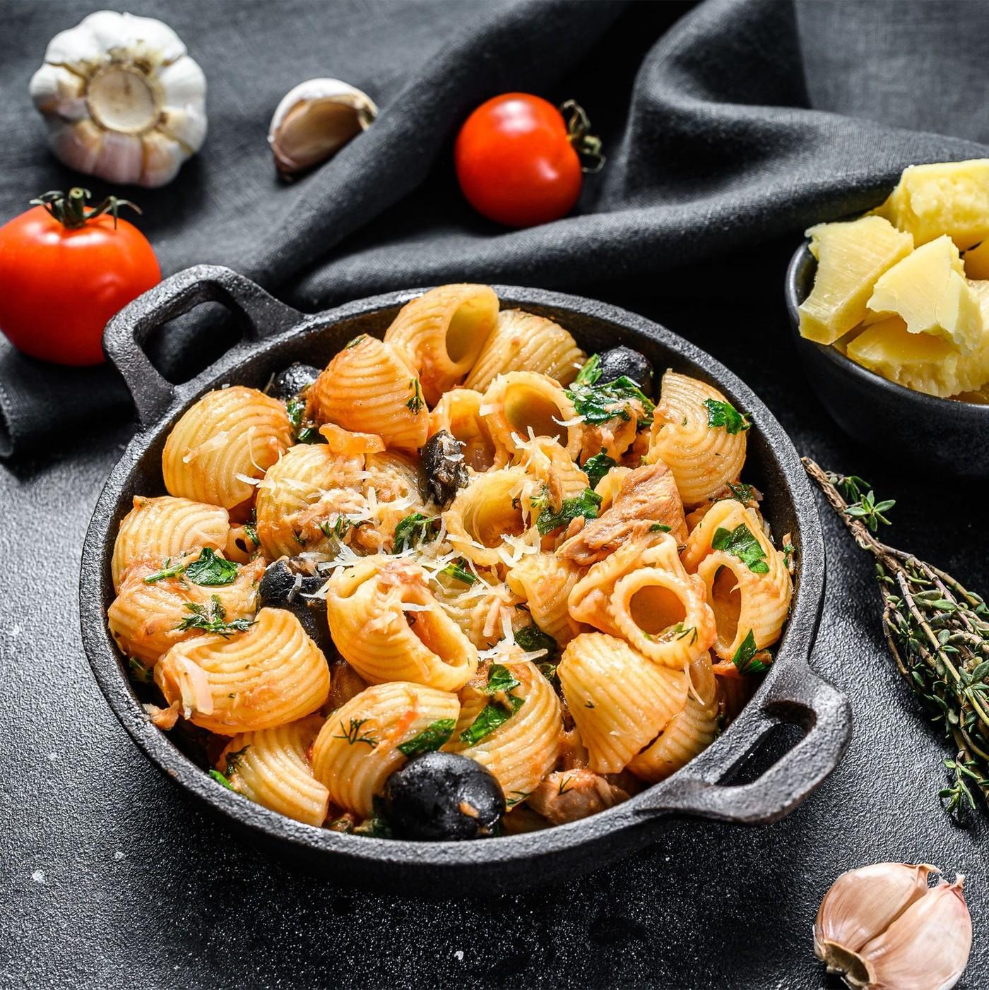 receta de Lumache Rigate N.43