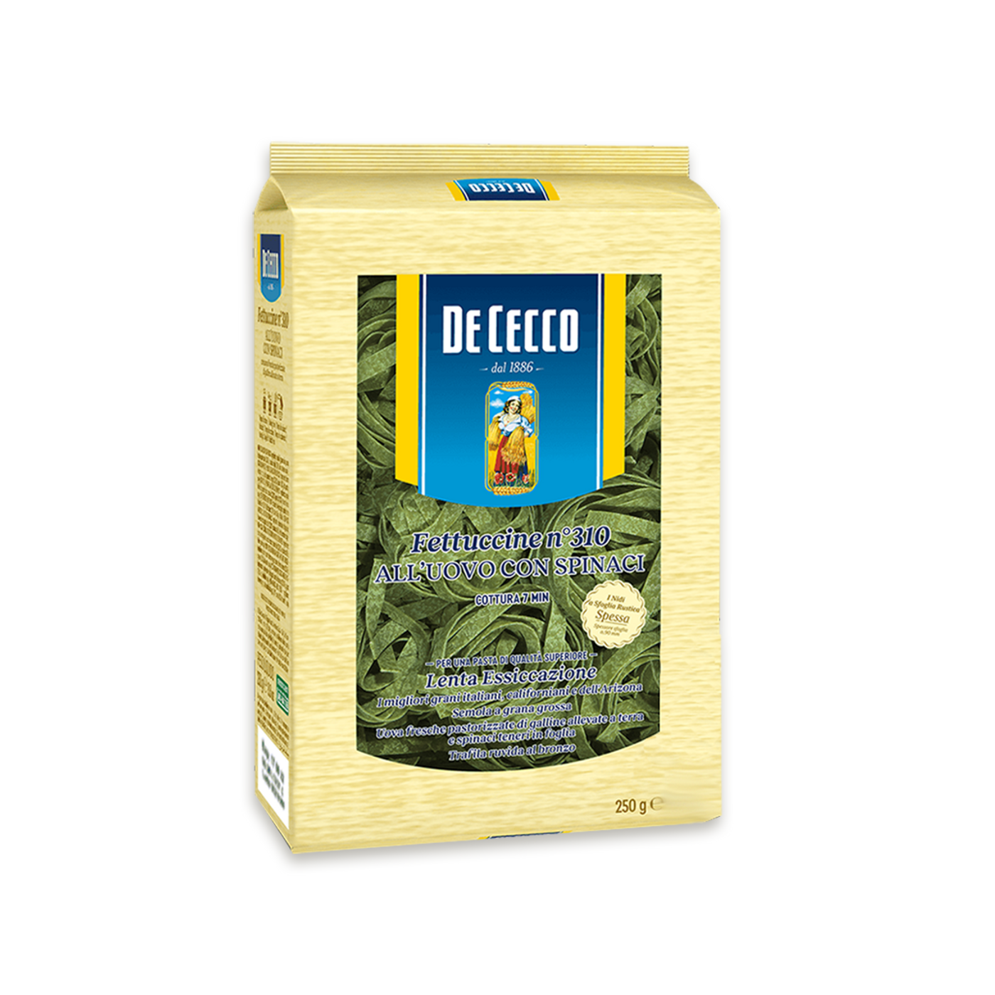 Fettuccine Uovo Con Spinaci N.310