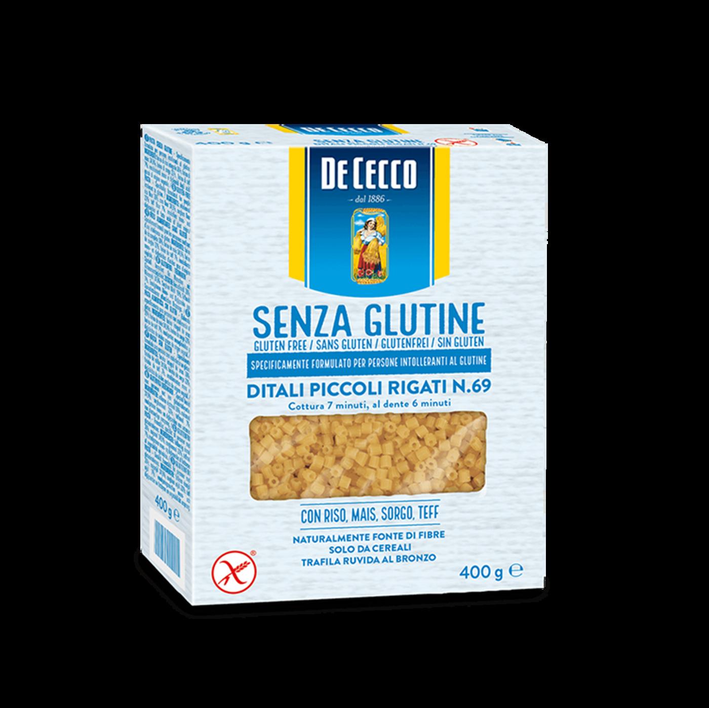 Ditali Piccoli Rigati Nº69 Sin Gluten