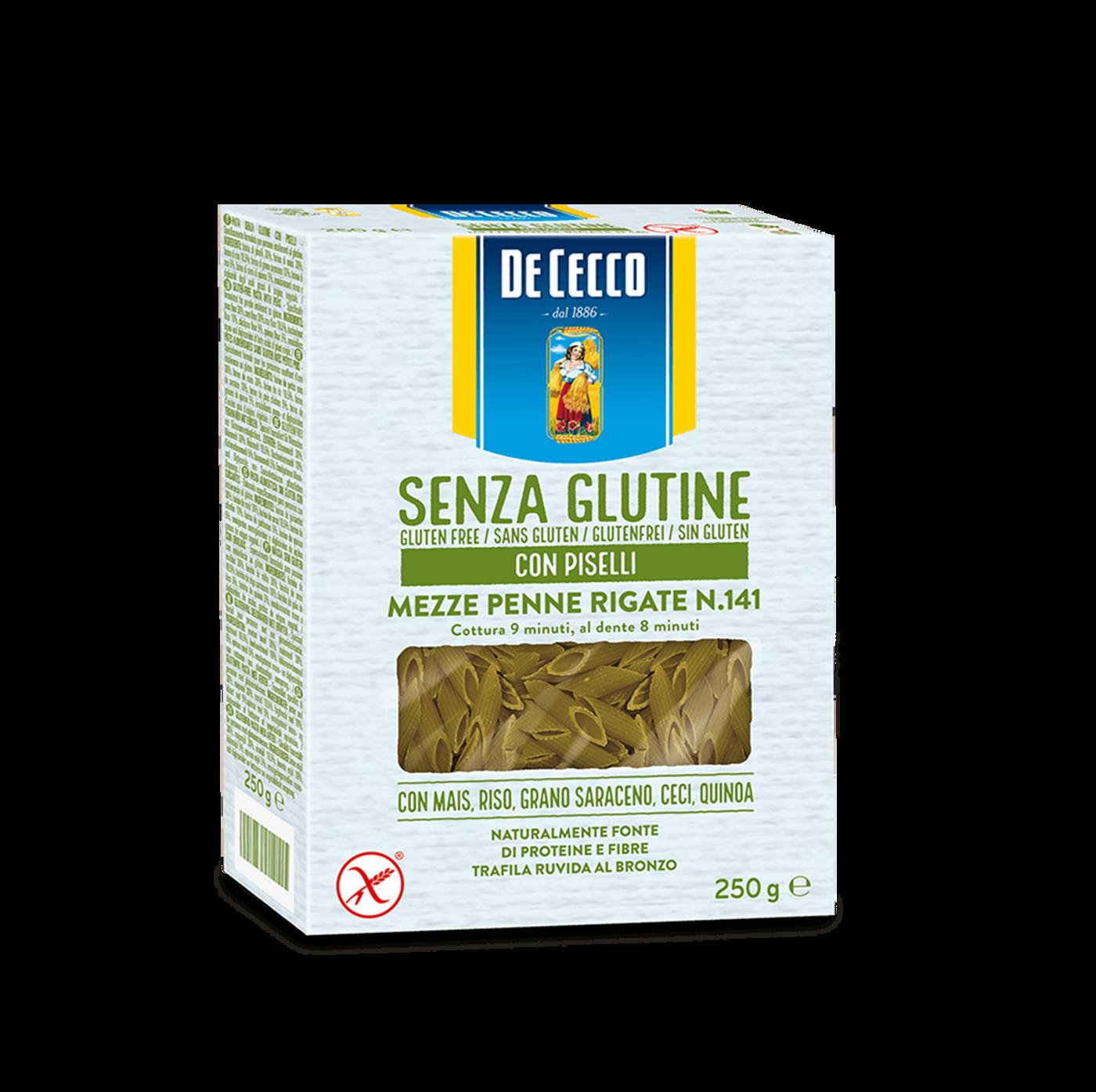 Mezze Penne Rigate Nº141 Con Guisantes Sin Gluten