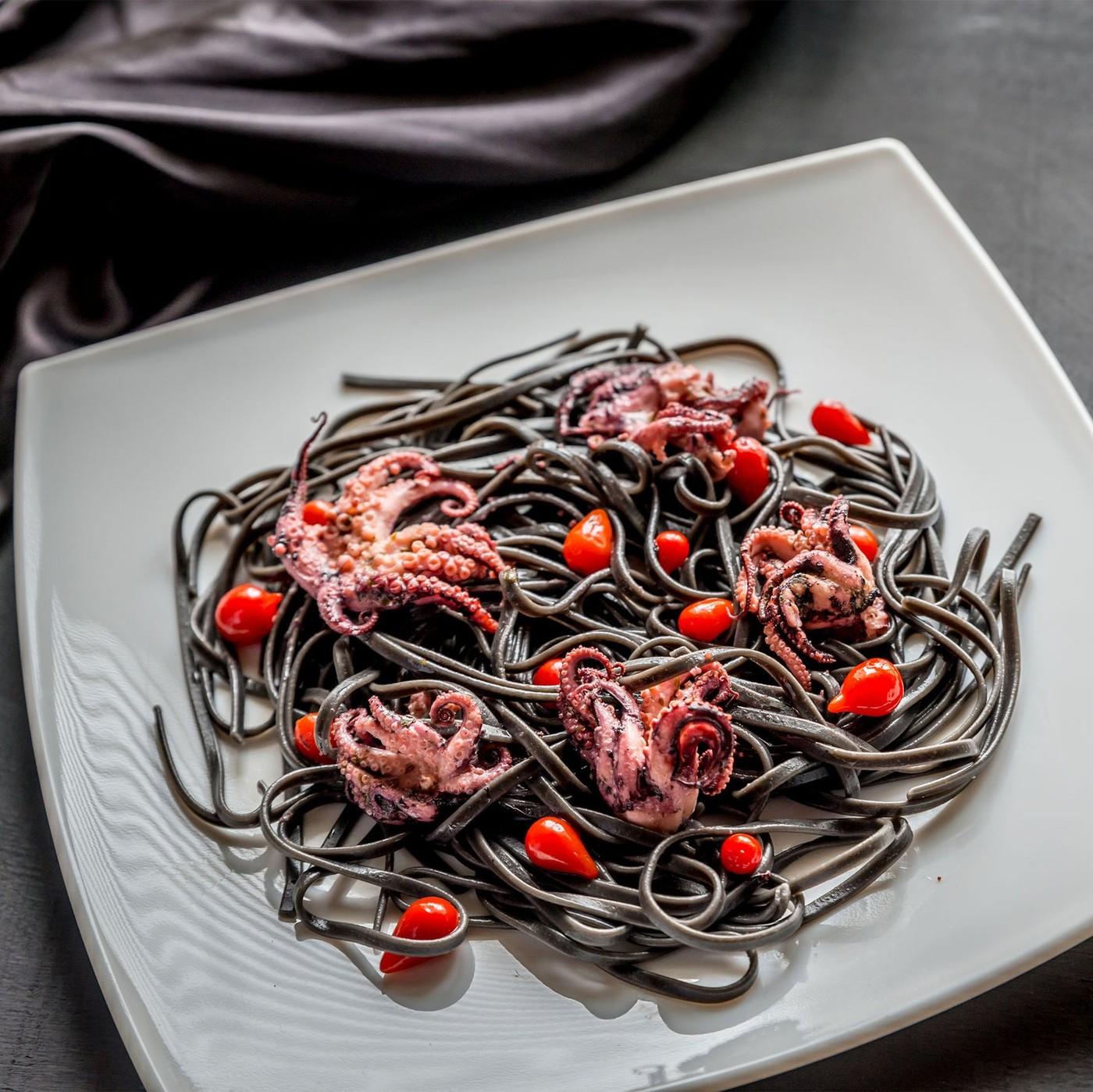 receta de Spaghetti nero di seppia
