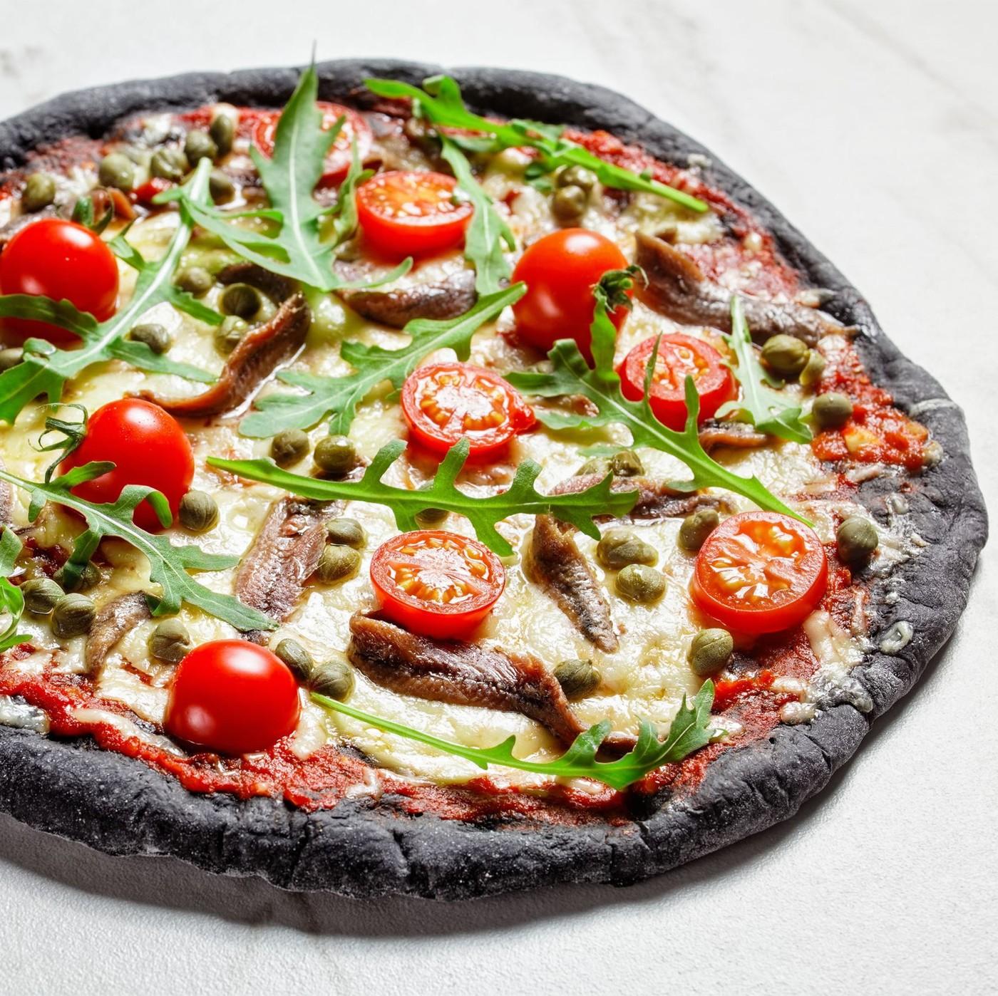 receta de Harina para pizza negra al carbón vegetal