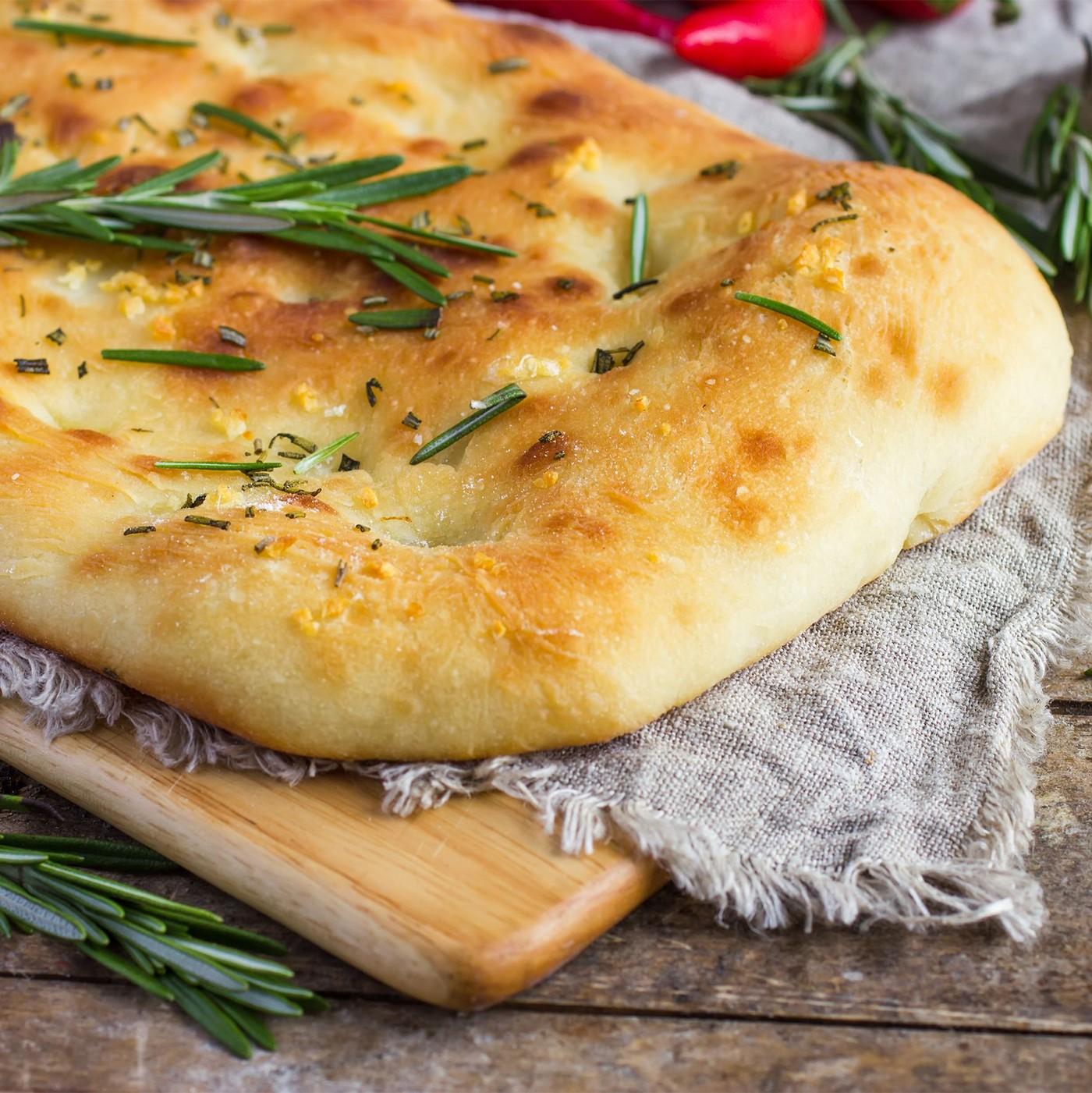 receta de Preparado Para Focaccia Con Harina Molida A Piedra