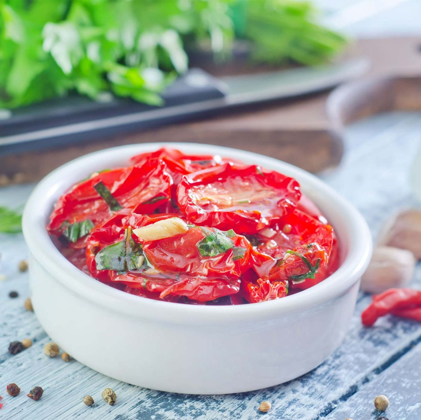 receta de Tomates Semisecos En Aceite