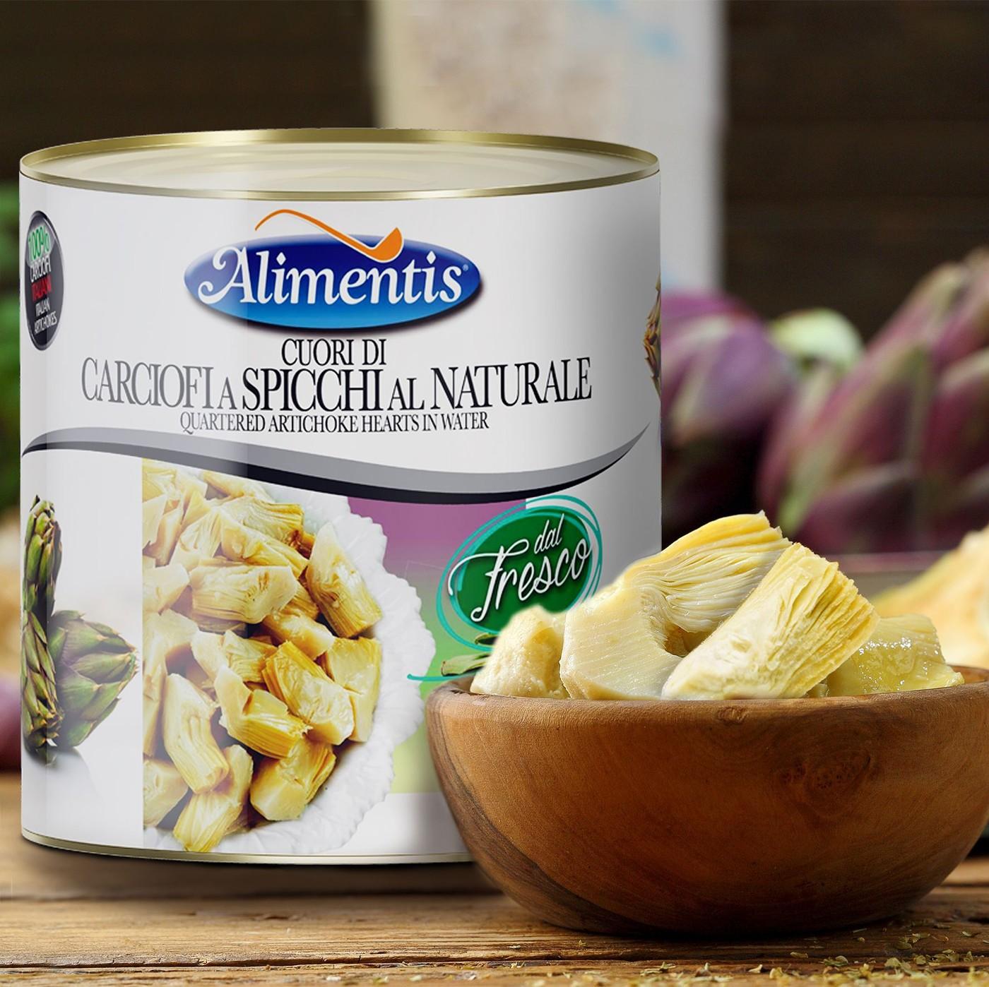 receta de Corazones De Alcachofa A Cuartos Al Natural
