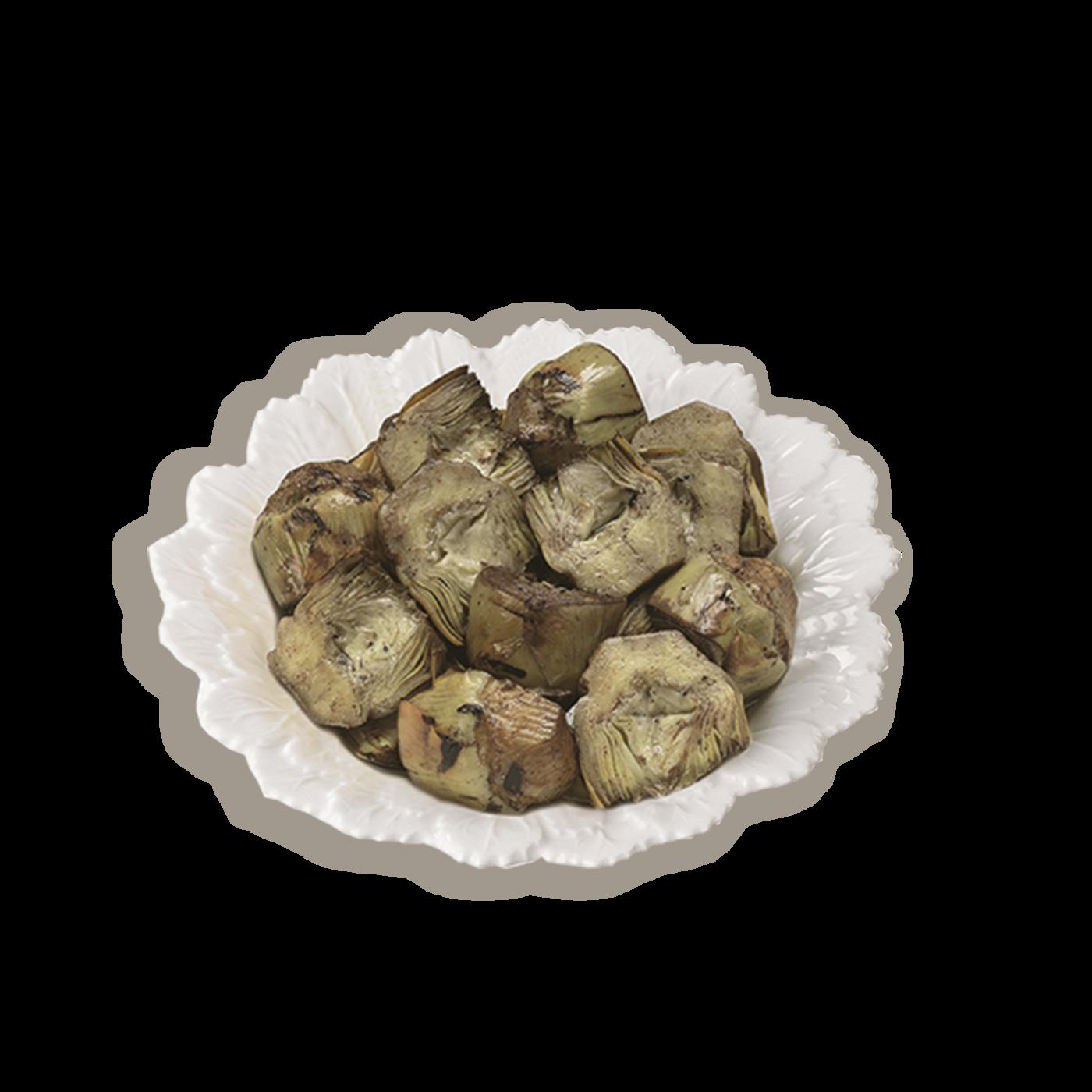 Corazones de alcachofas a la rustica (cortadas y asadas)