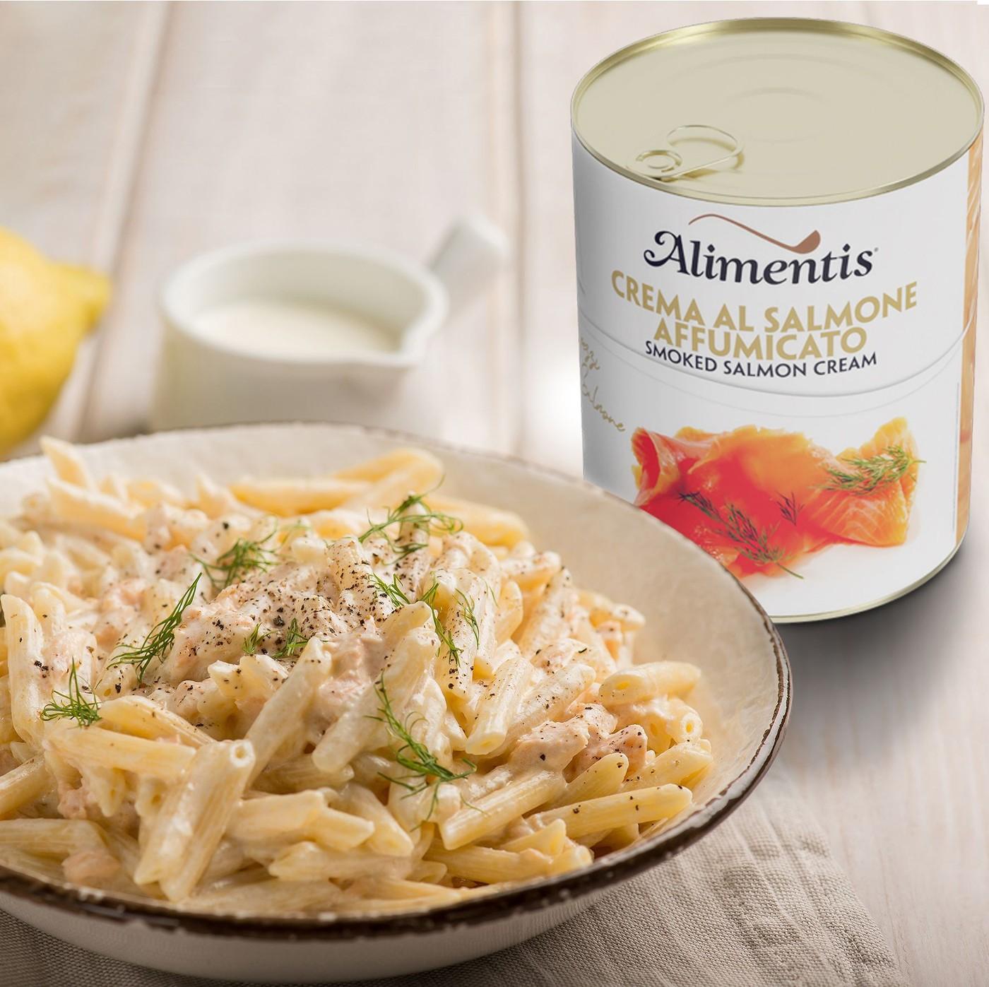 receta de Crema de salmón ahumado