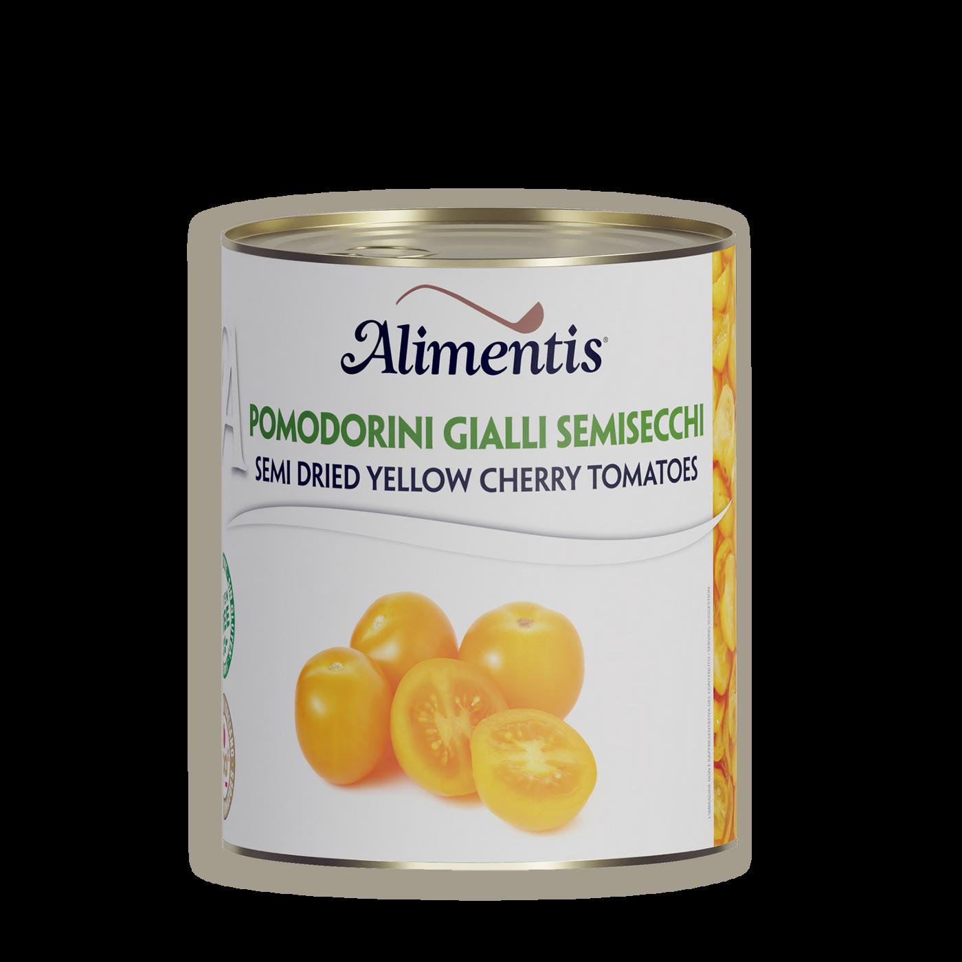 Tomates Amarillos Enteros Y Pelados Semisecos