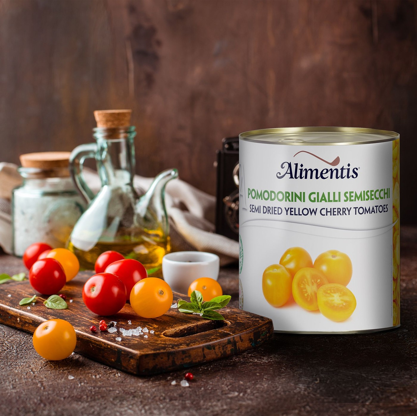 receta de Tomates Amarillos Enteros Y Pelados Semisecos