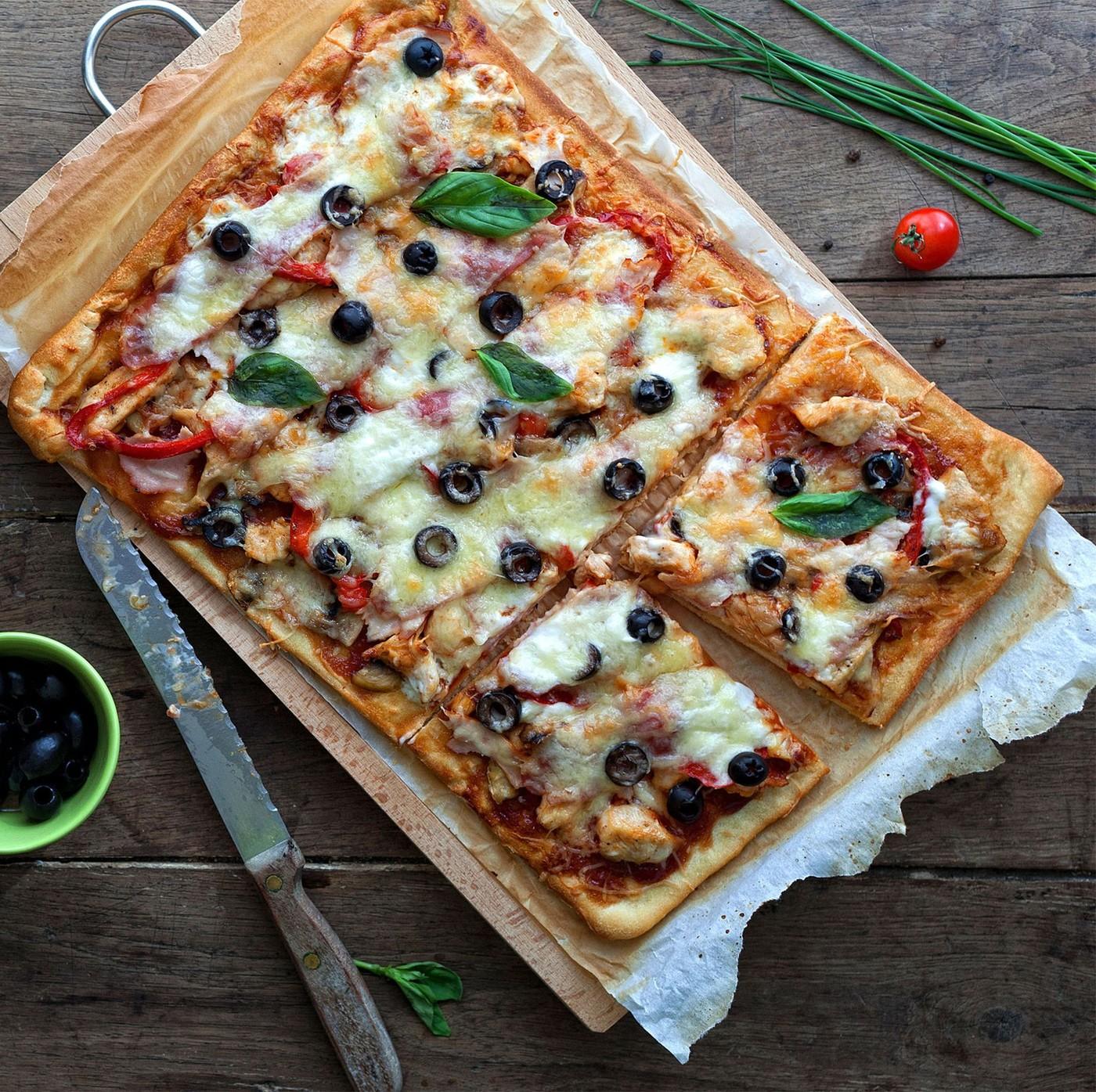 receta de Pizza Teglia Rectangular 40 X 30 Cms