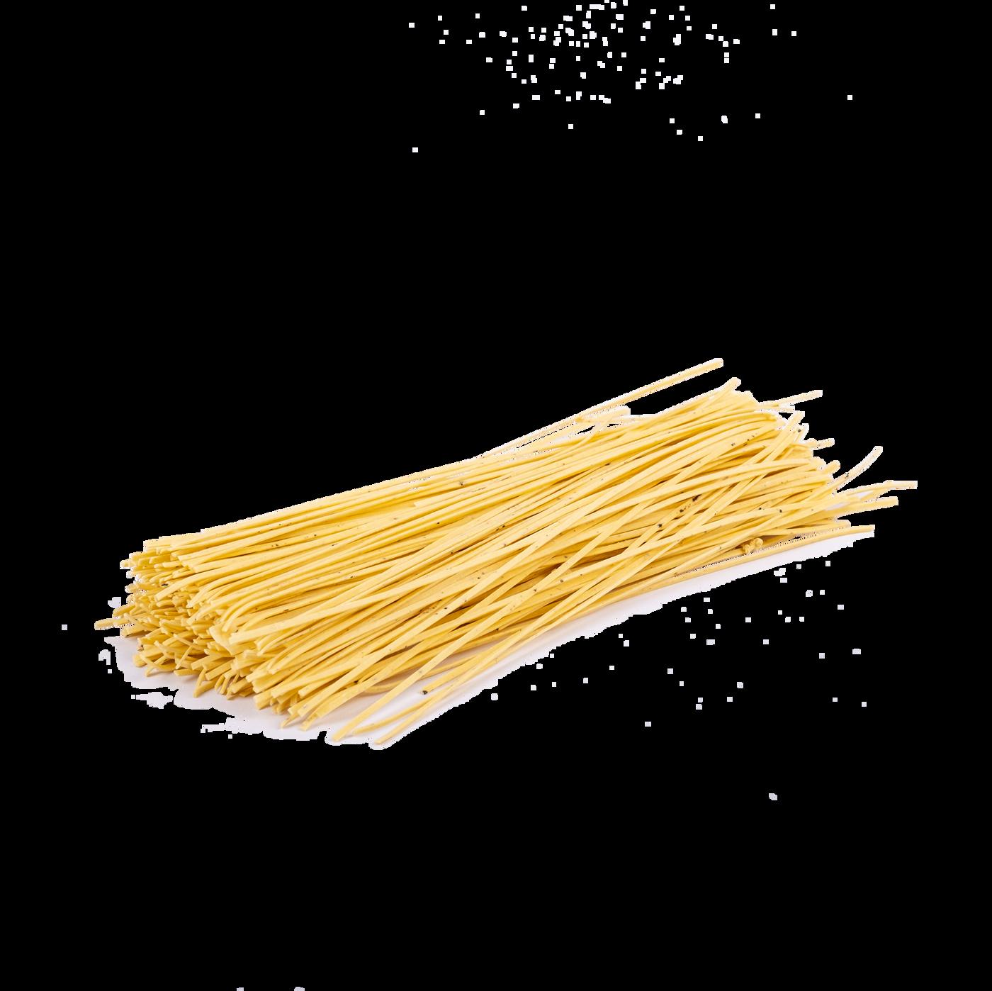 Fettuccine al huevo con trufa