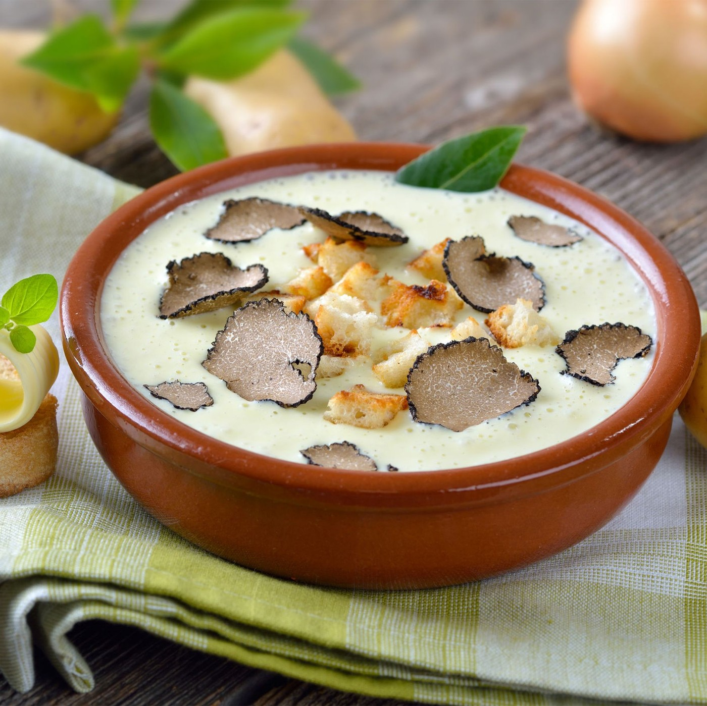 receta de Crema Con Parmigiano Reggiano Dop Y Trufa Blanca