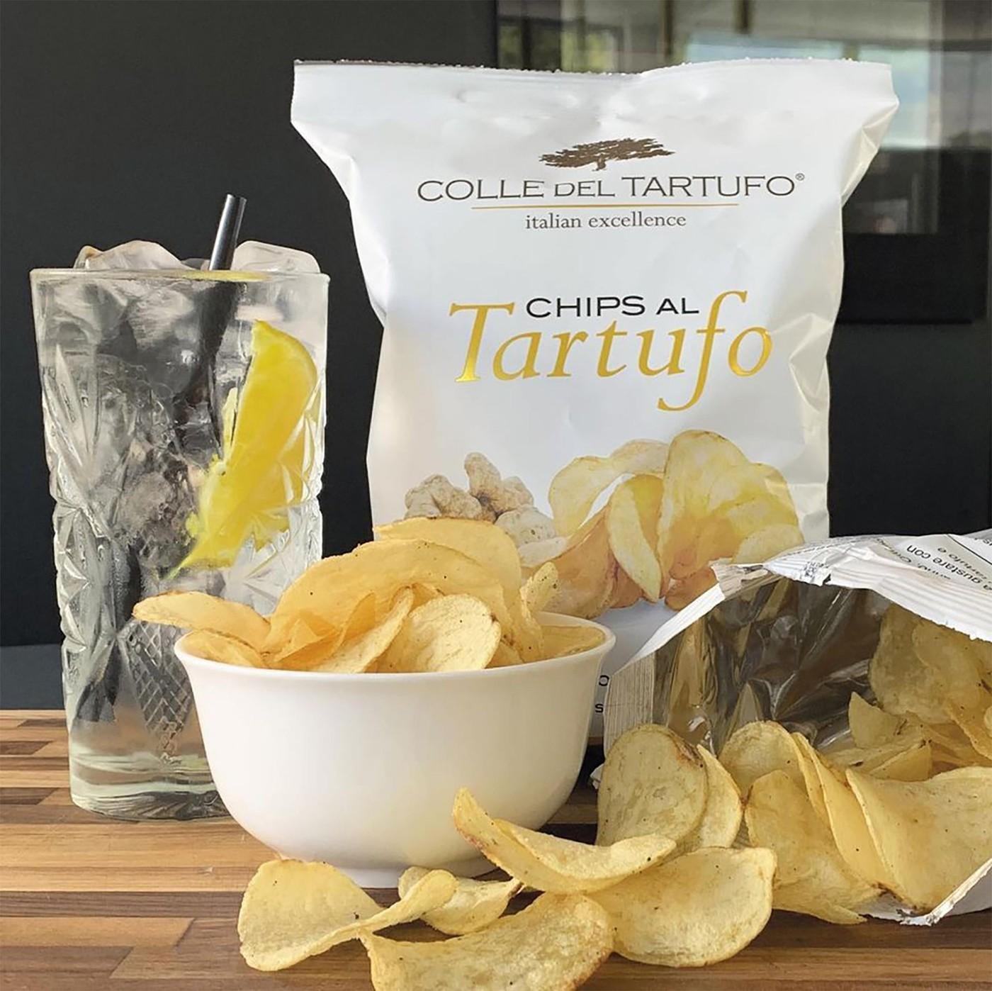 receta de Chips Con Trufa Blanca