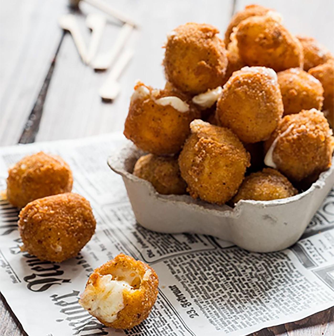 receta de Mozzarelline panate prefritte