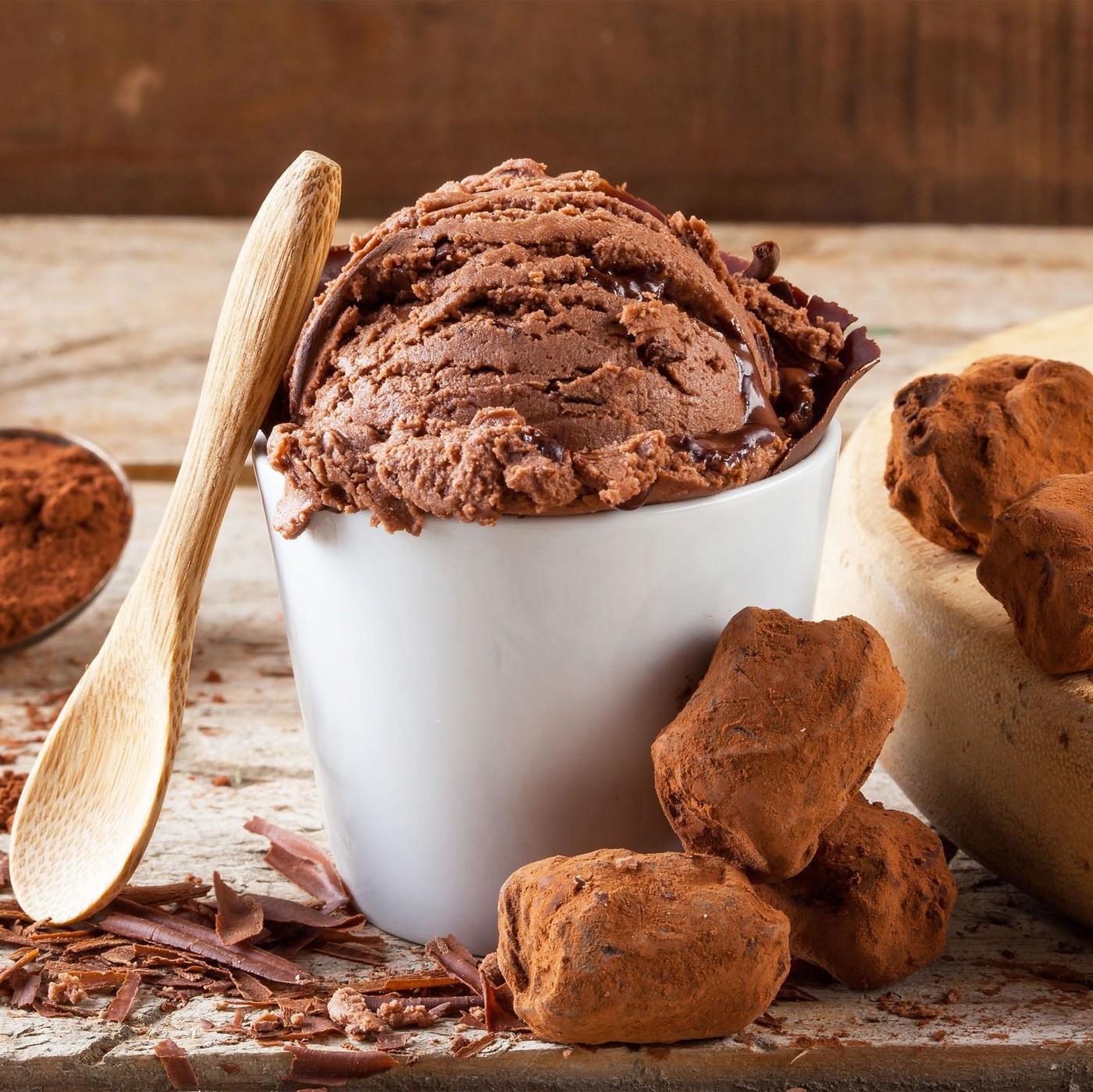 receta de Helado de chocolate