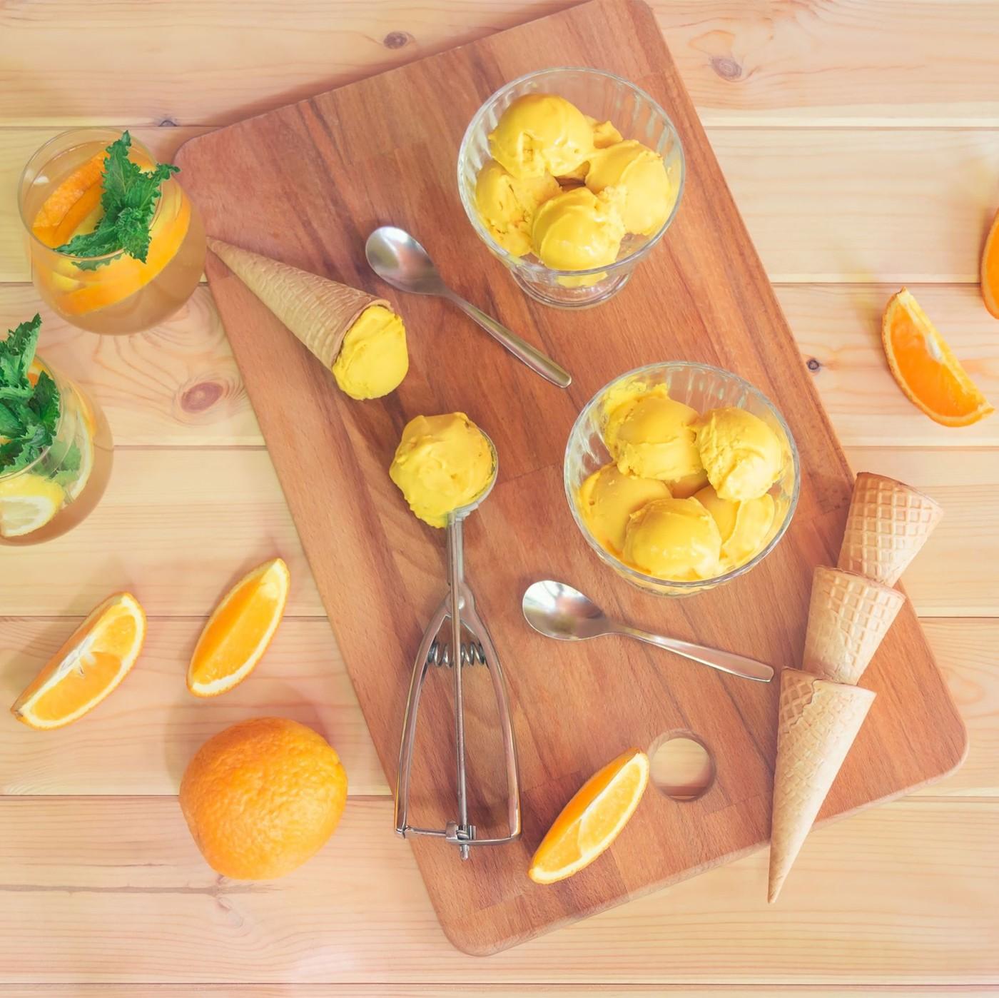 receta de Sorbete de mandarina