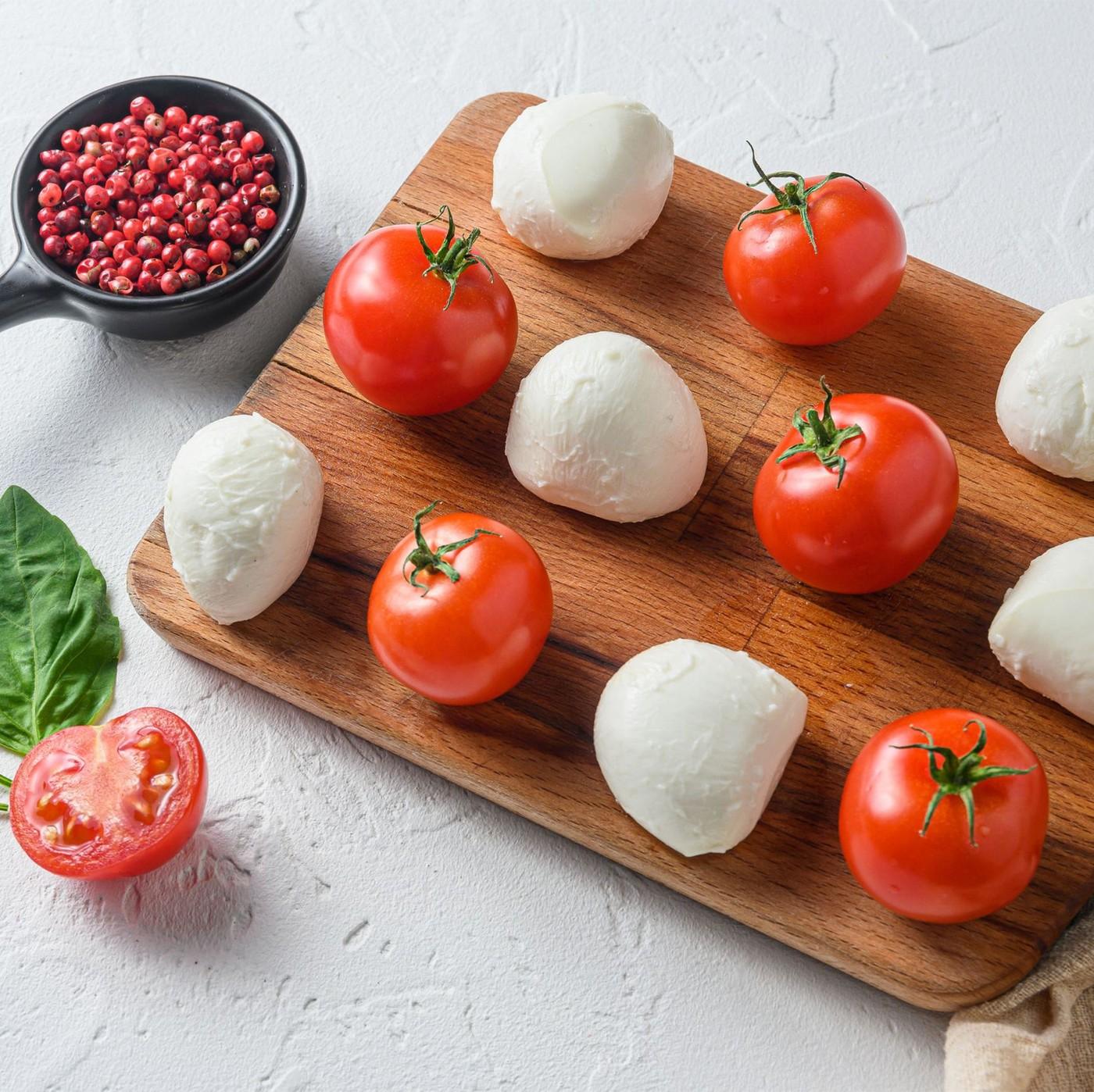 """receta de Ciliegina de mozzarella """"tamburro"""""""