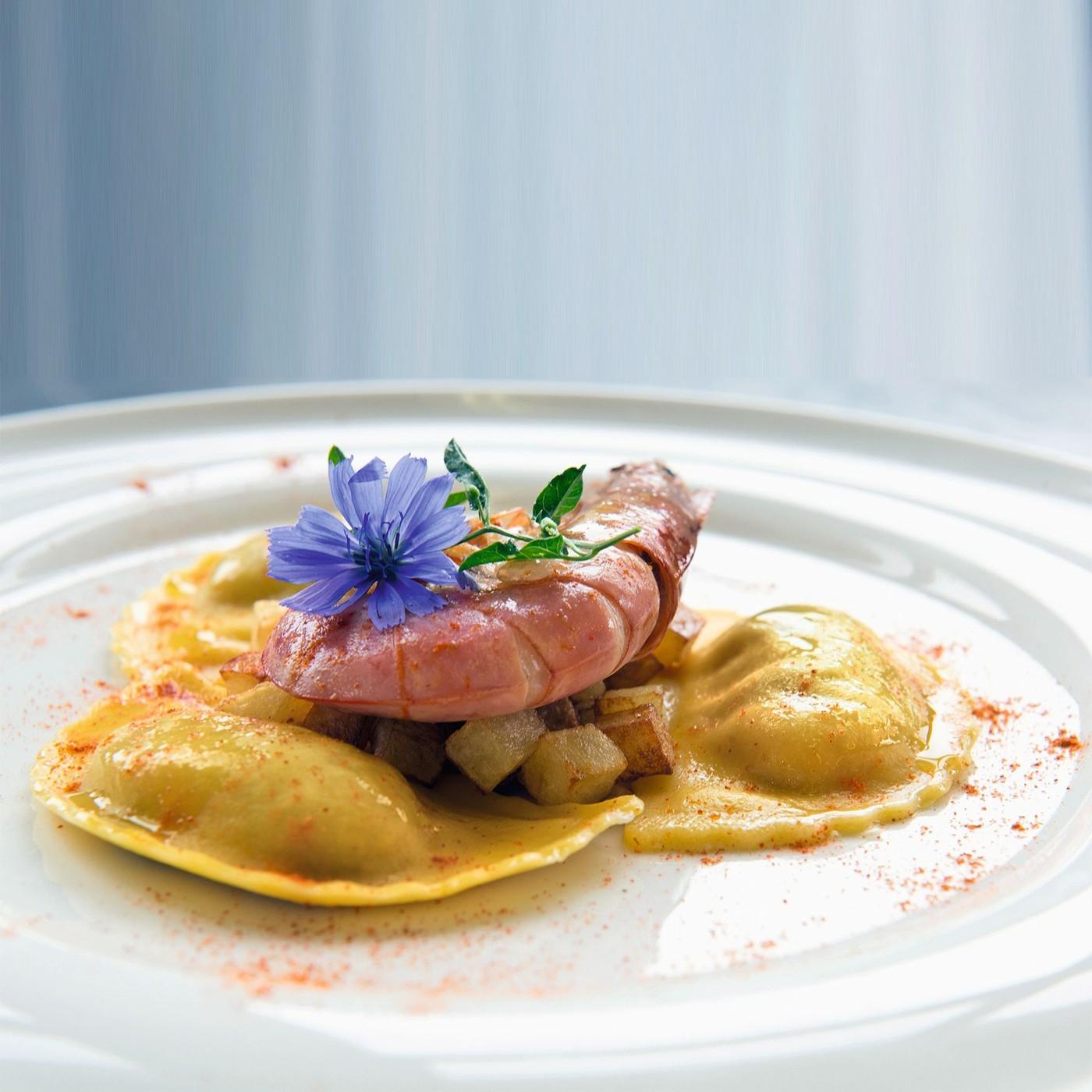 receta de Panzerotti de ricotta y boletus edulis