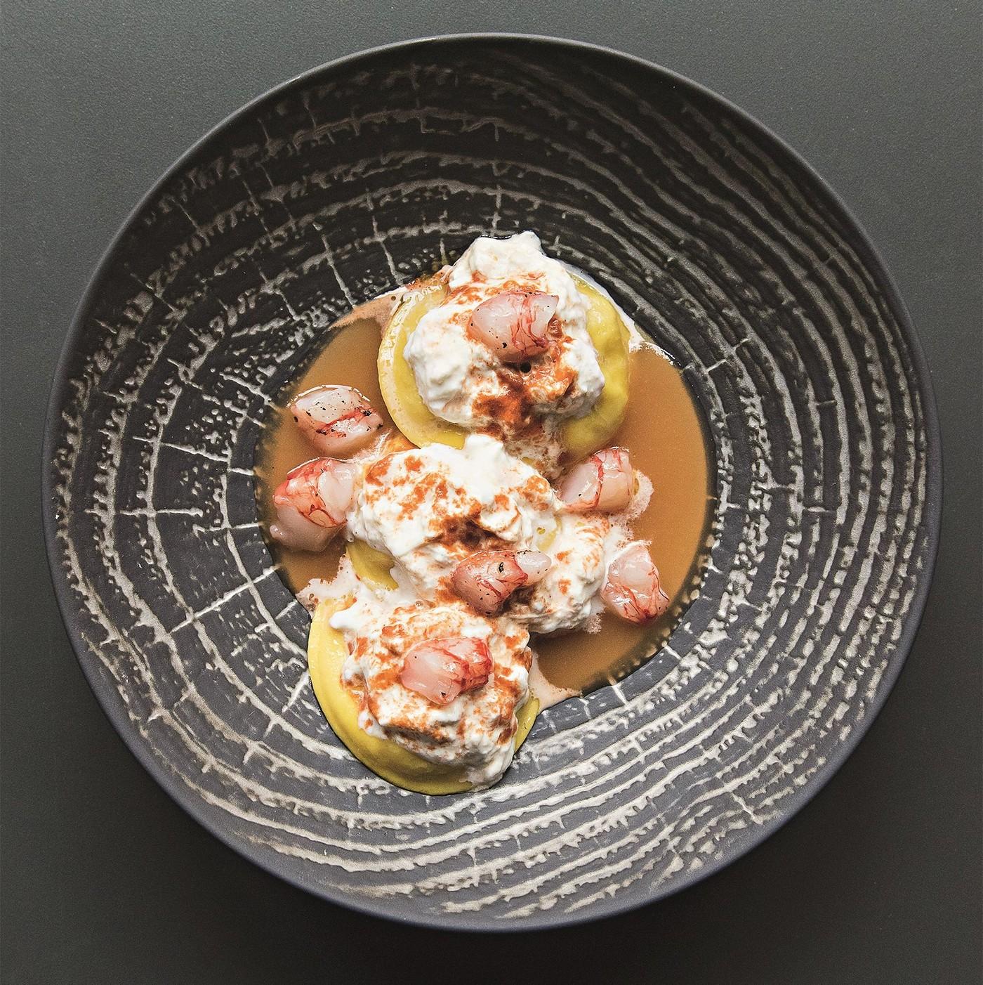 receta de Panciotti Con Vieiras Y Gambas Del Mar Del Norte