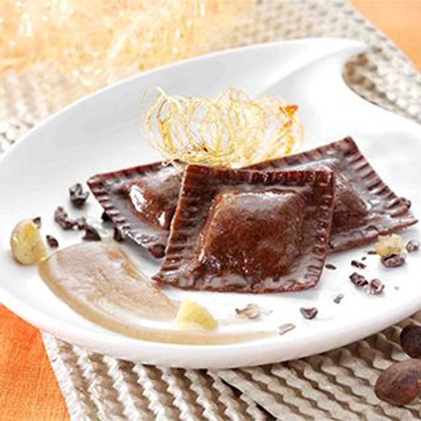 receta de Quadrelli De Chocolate Con Cáscara De Naranja