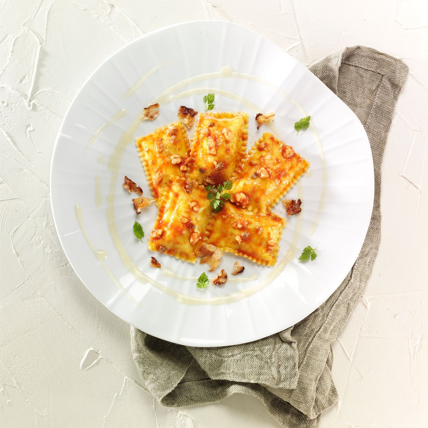 receta de Bauletti Relleno De Langosta