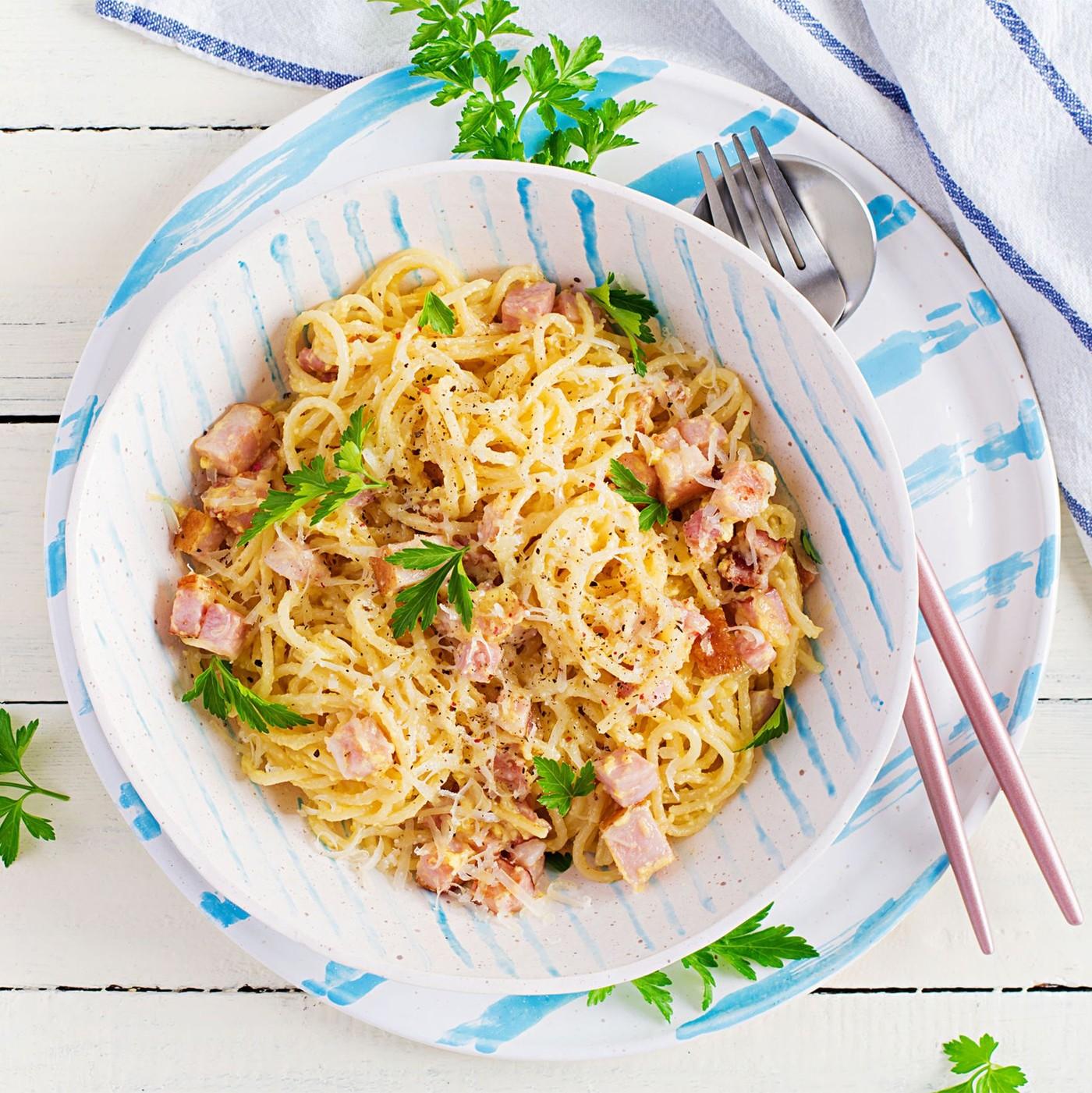 receta de Spaghetti A La Carbonara