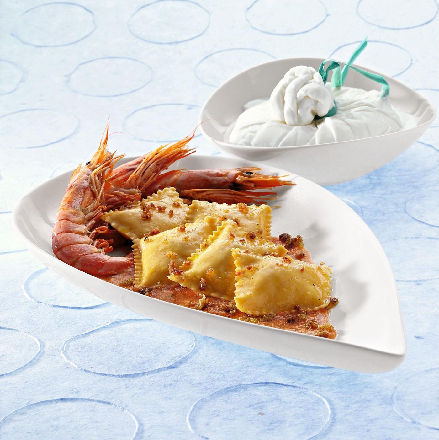 receta de Scrigni Con Burrata De Puglia