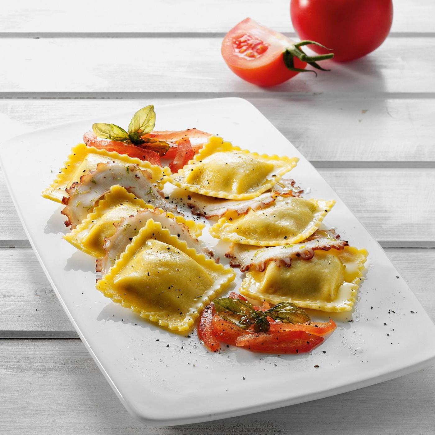 receta de Tortelli Con Mozzarella De Bufala, Tomate Y Albahaca