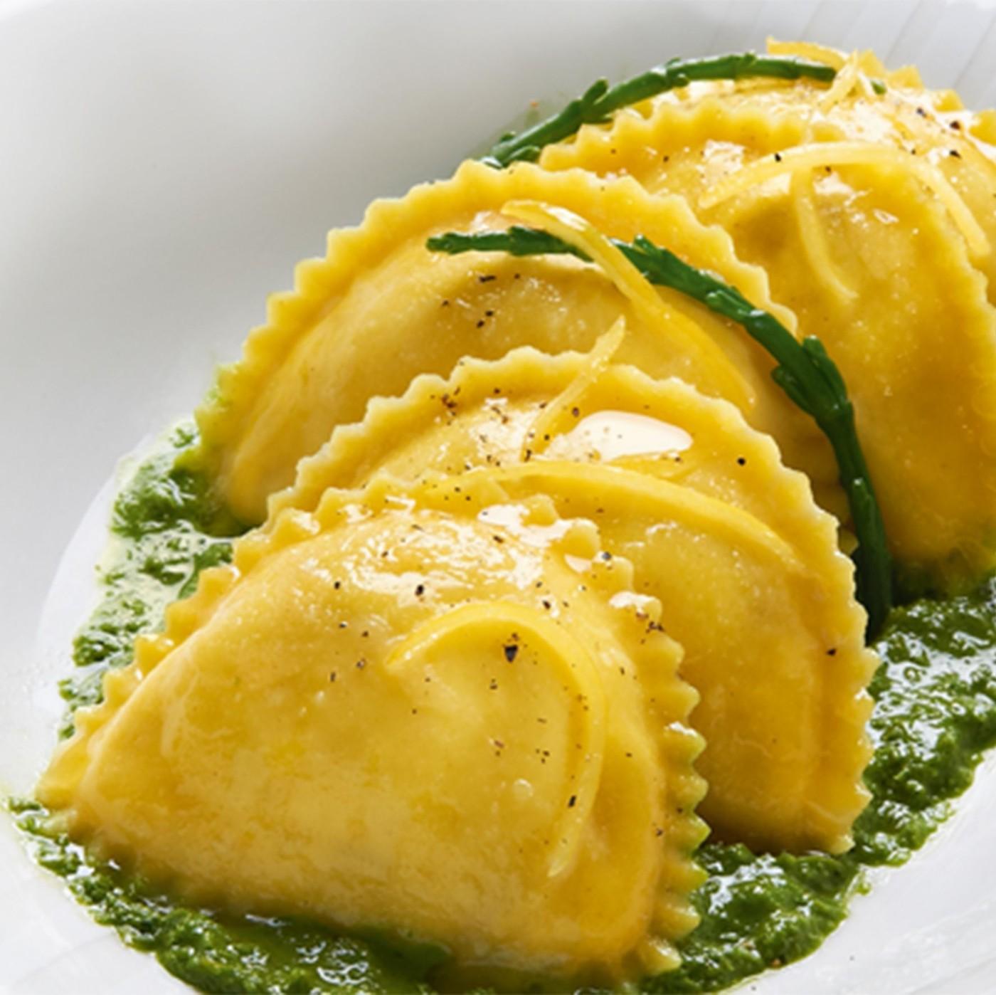 receta de Raviolotti Con Bacalao