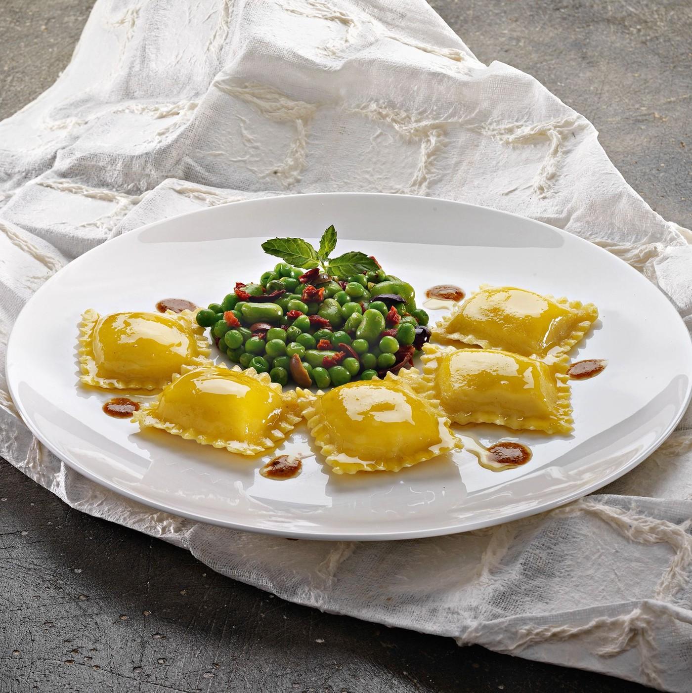 receta de Scrigni con setas porcini