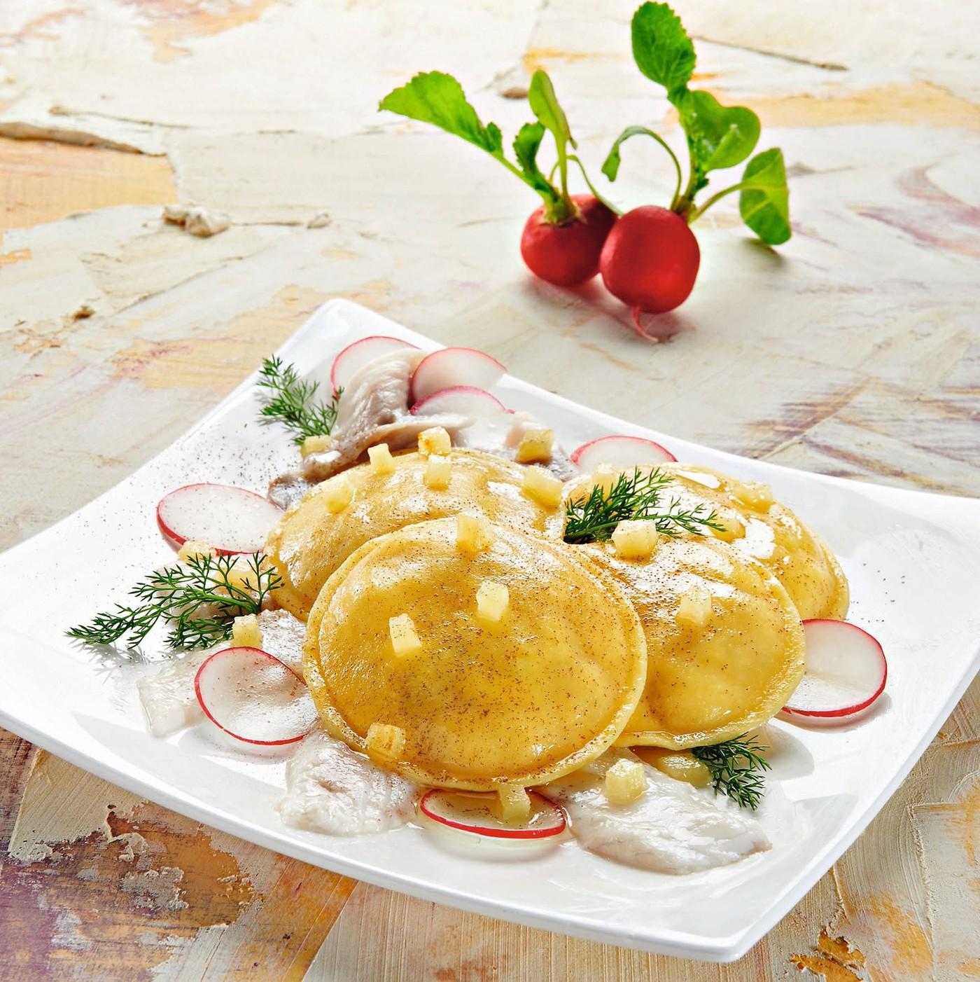 receta de Panciotti Con Puntas De Espárrago Y Mascarpone