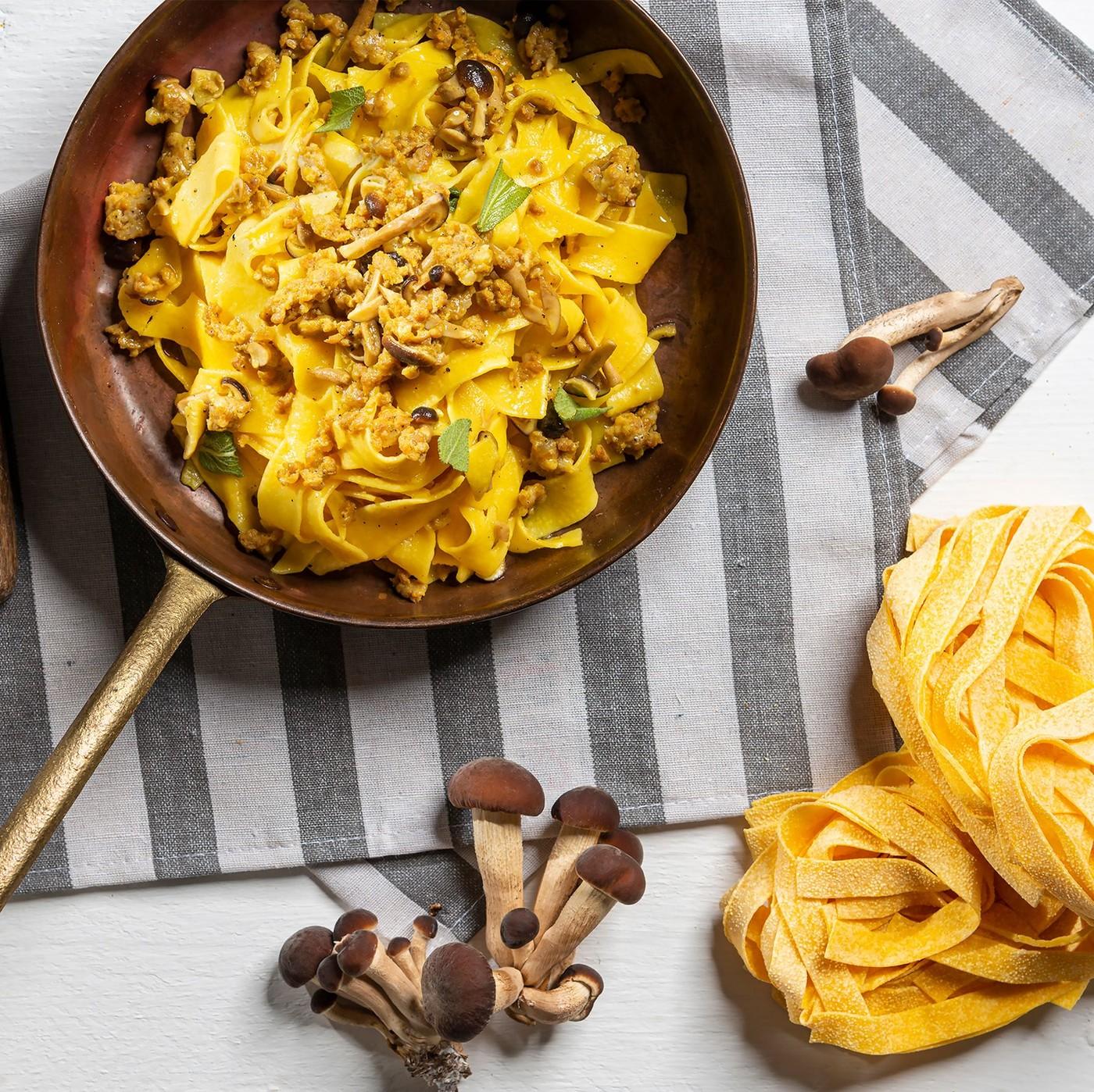 receta de Taglierini con setas porcini