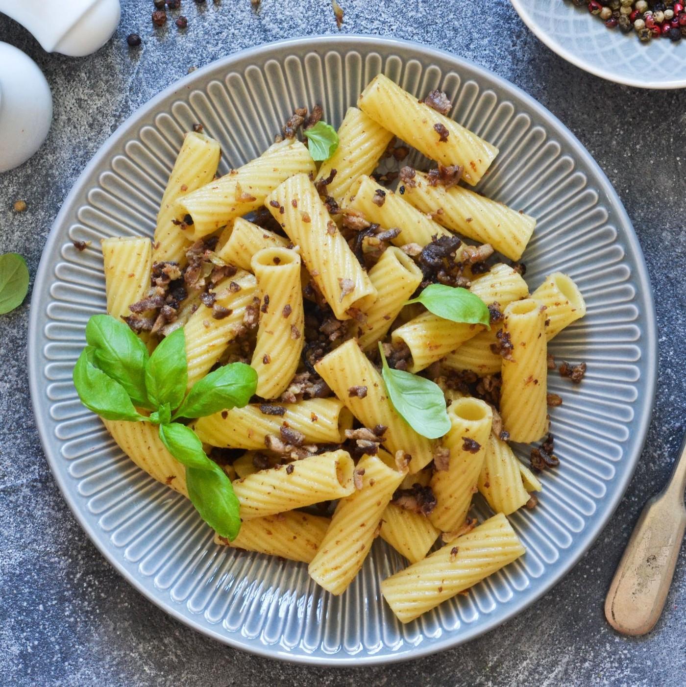 receta de Rigatoni precocido