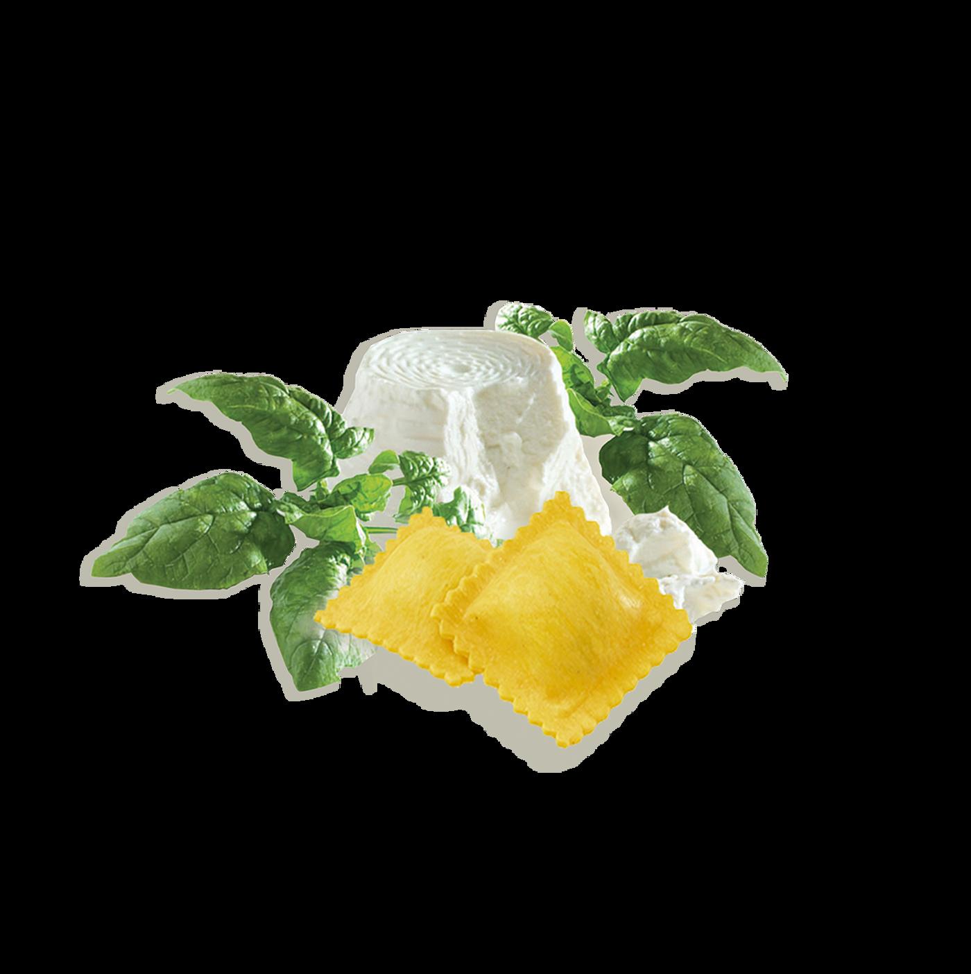 Ravioli con ricotta y espinacas precocido