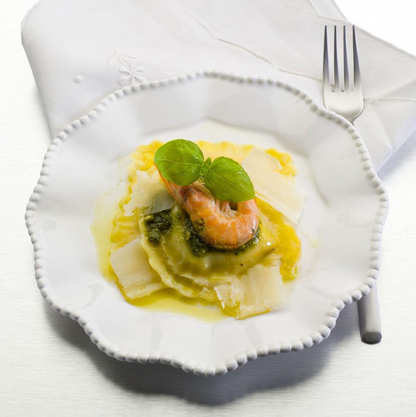 receta de Ravioli con ricotta y espinacas precocido