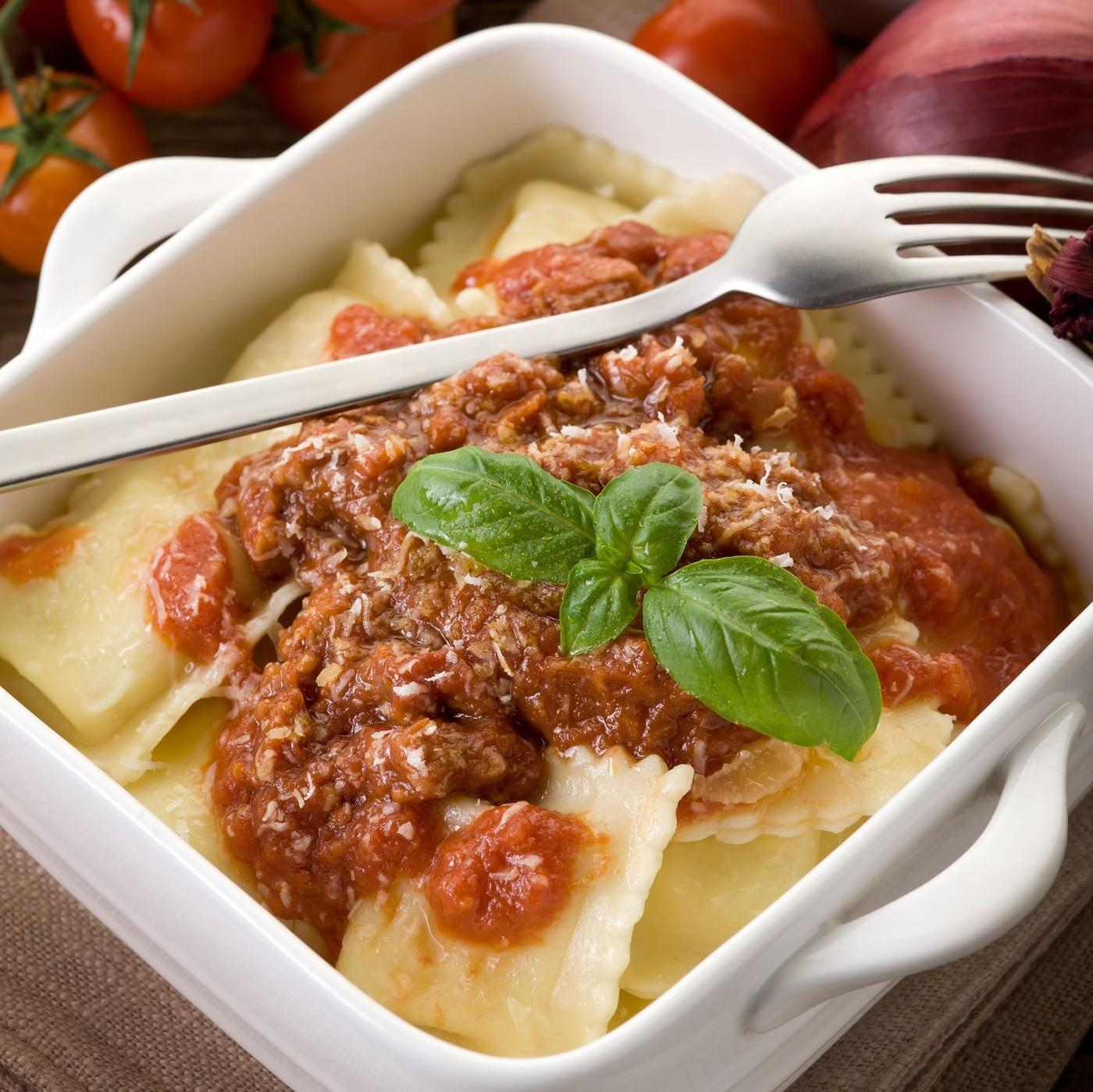 receta de Ravioli Al Bue Precocido