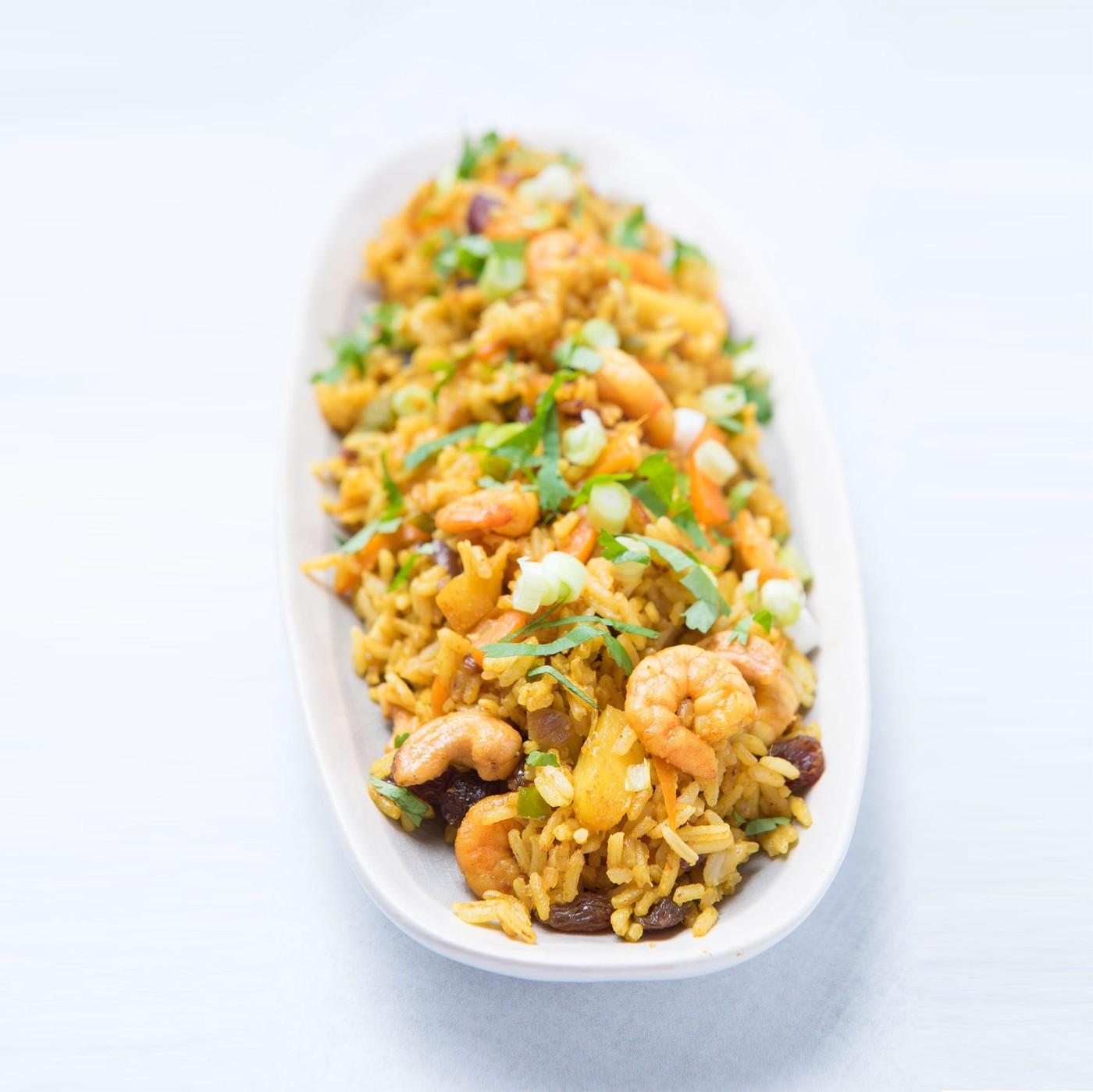 receta de Risotto De 3 Cereales Con Gambas Y Curry