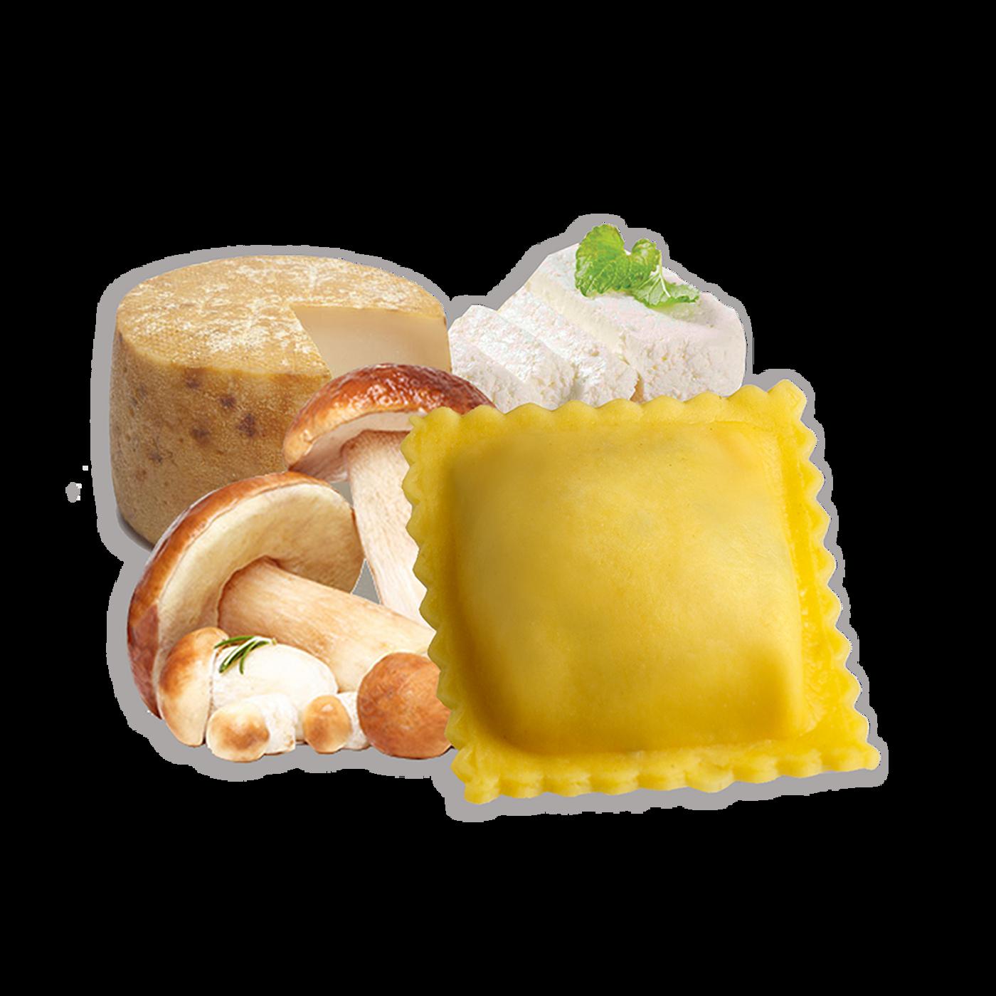 Ravioli Formaggio E Funghi Halal