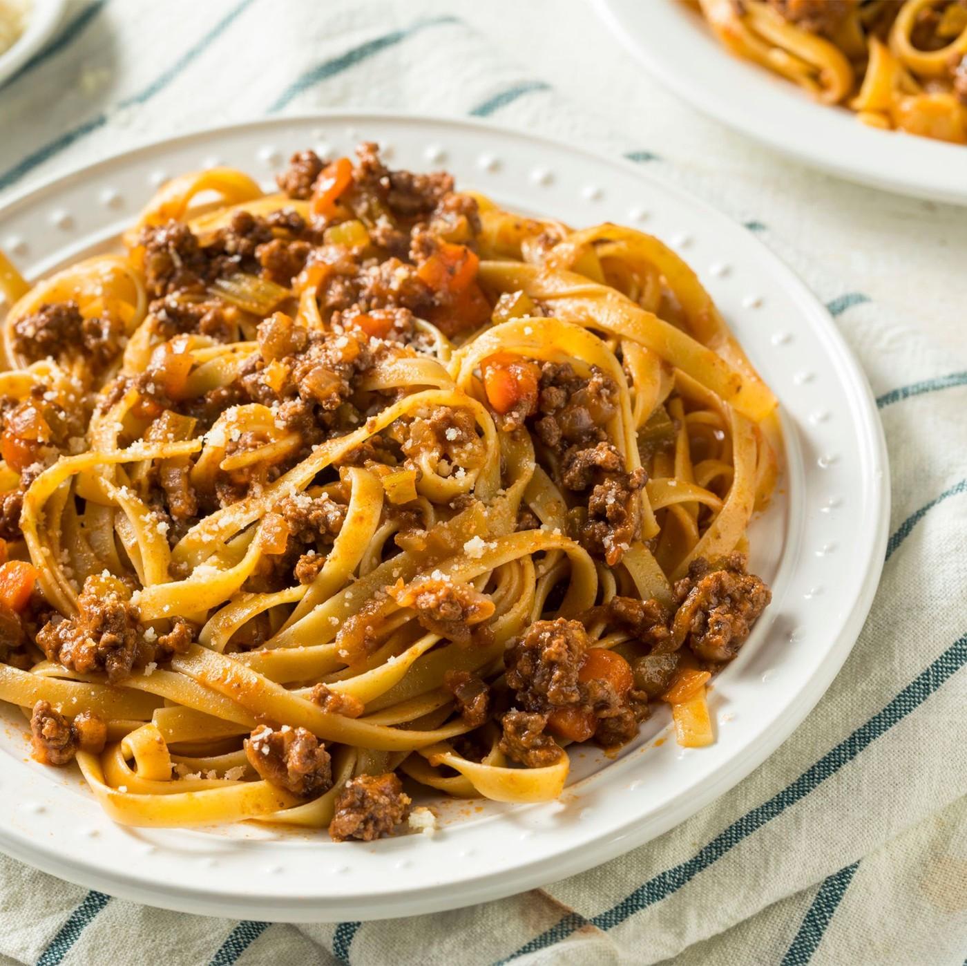 receta de Tagliatelle a la boloñesa