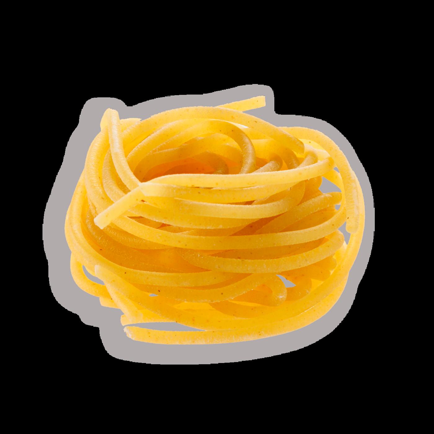 Spaghetti de pasta fresca extruidos al bronce