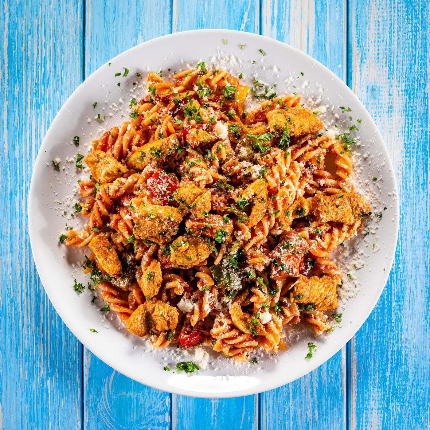 receta de Fusilli all'amatriciana