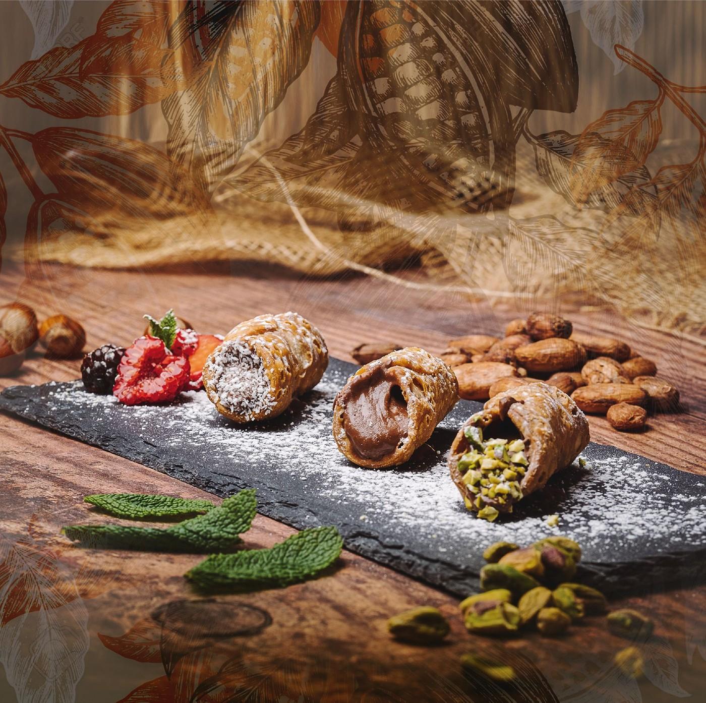 Cannoli siciliani mignon con Nutella