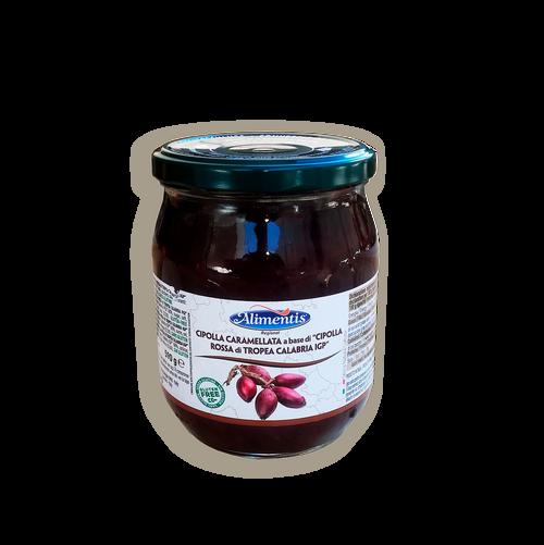 "Cebolla roja de tropea calabria I.G.T. ""loncheada y caramelizada"""